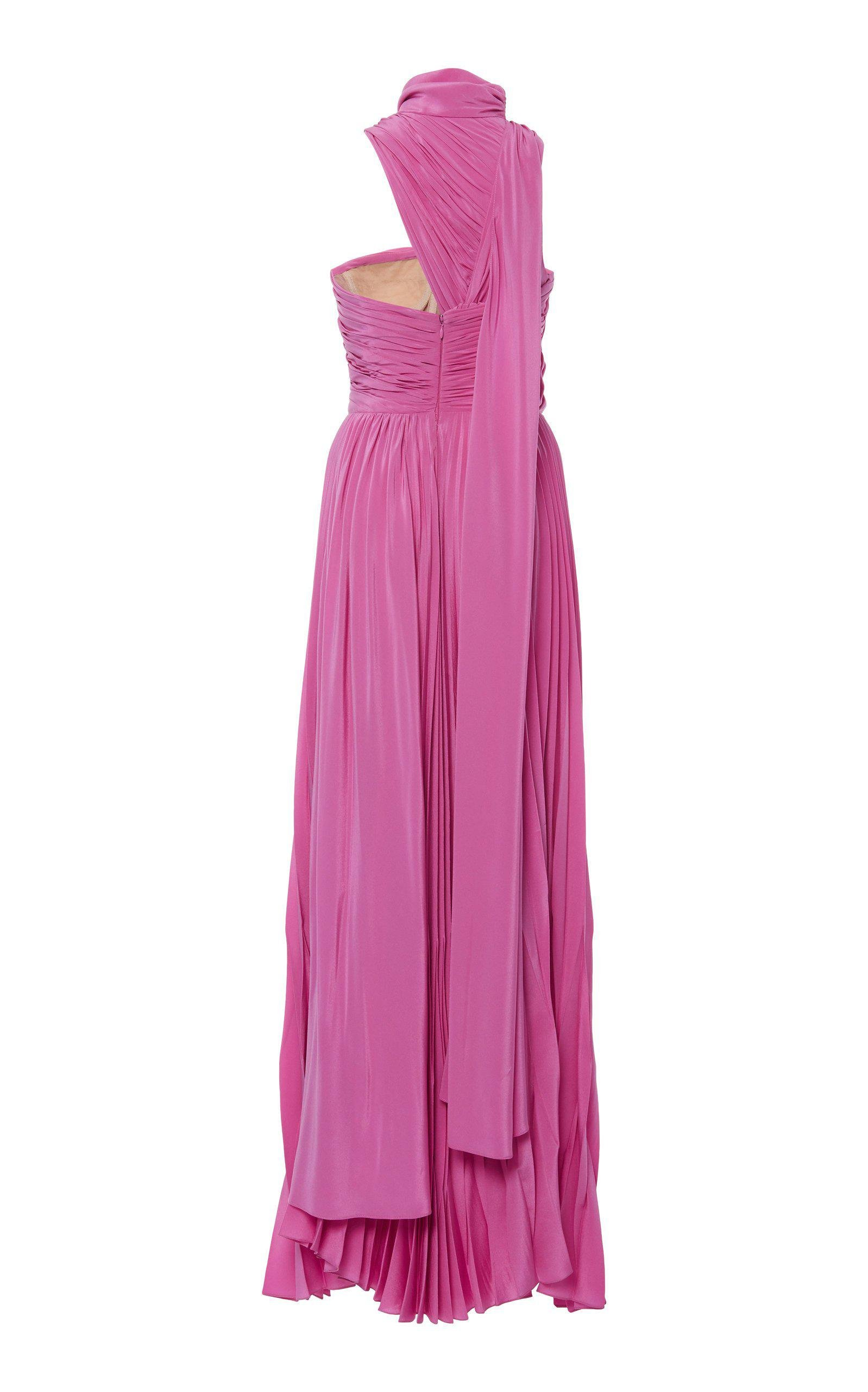 PLEATED MAXI GOWN 2