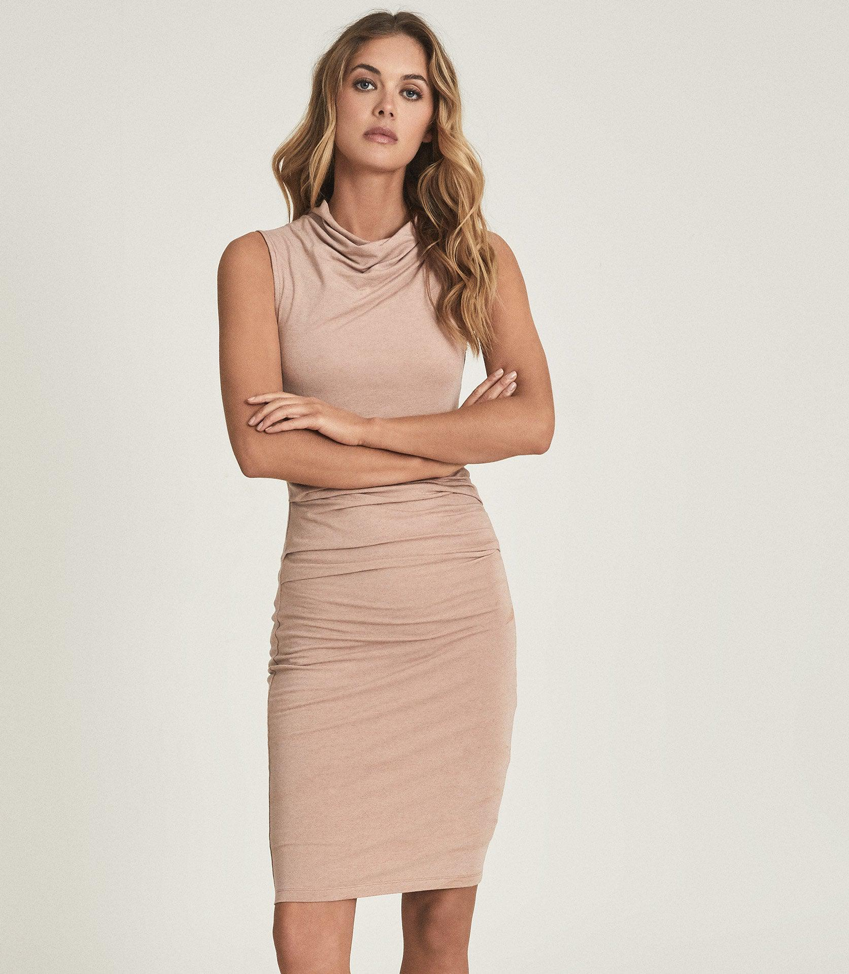 TORA - RUCHED WOOL-JERSEY BODYCON DRESS 1