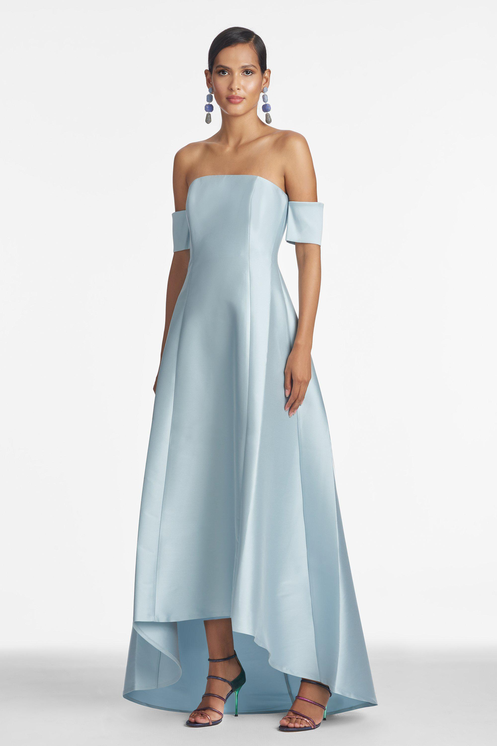 Agyness Gown - Ash Blue