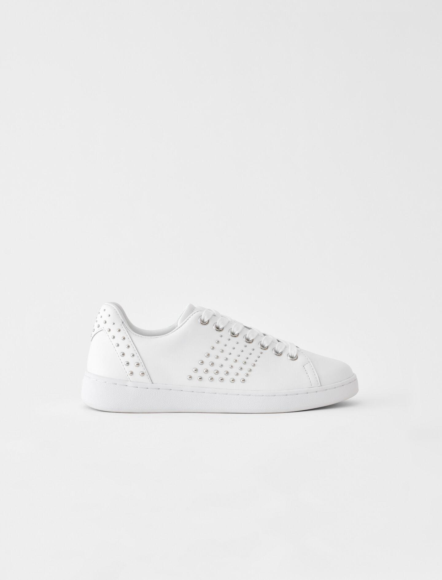 WHITE LEATHER SNEAKERS WITH STUDS