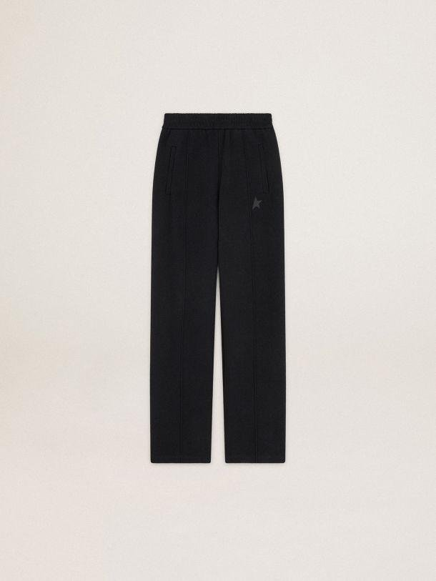 Black Dorotea Star Collection jogging pants with tone-on-tone star on the front 3