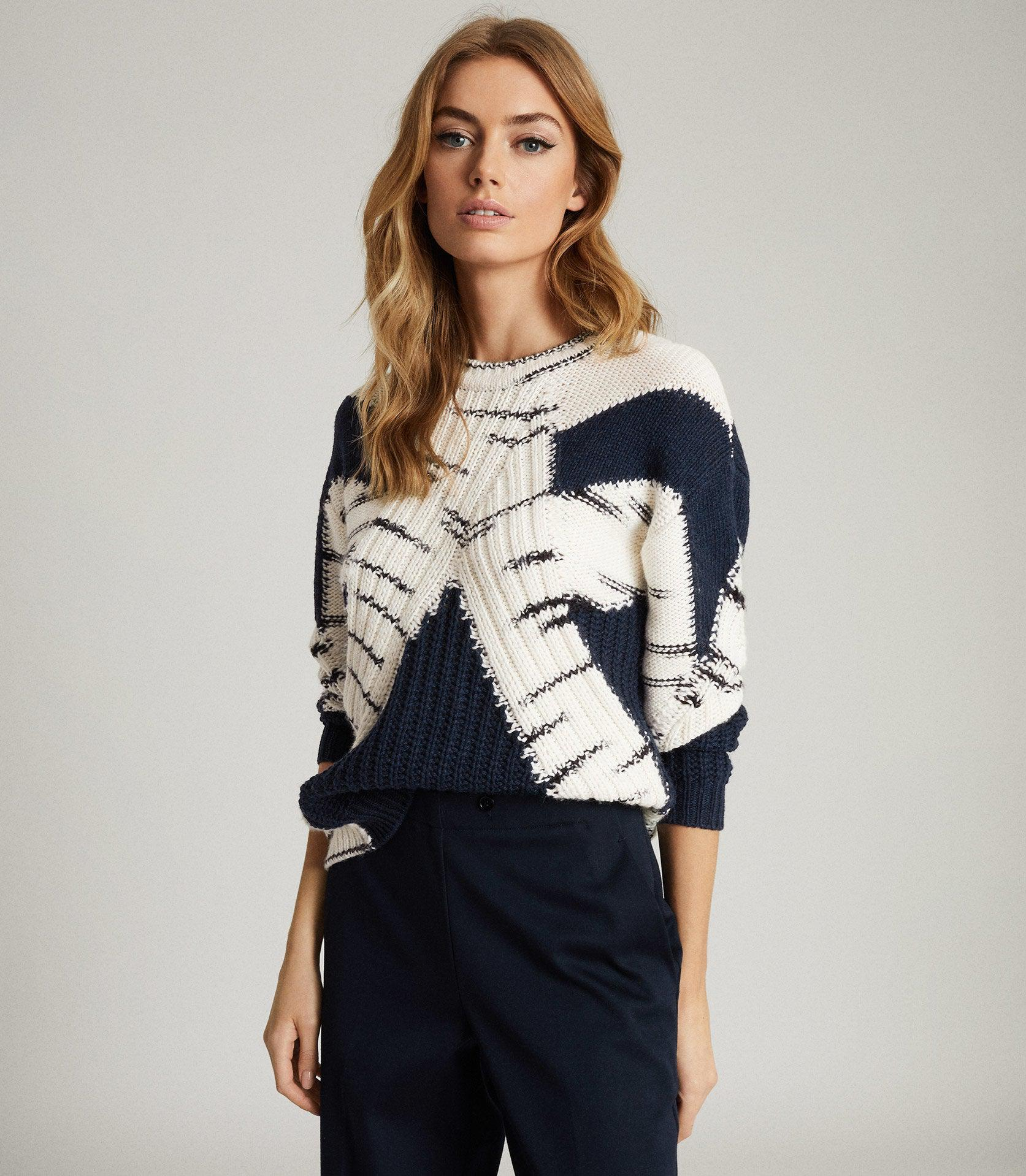 TIFFANY - COLOUR BLOCK KNITTED JUMPER 1