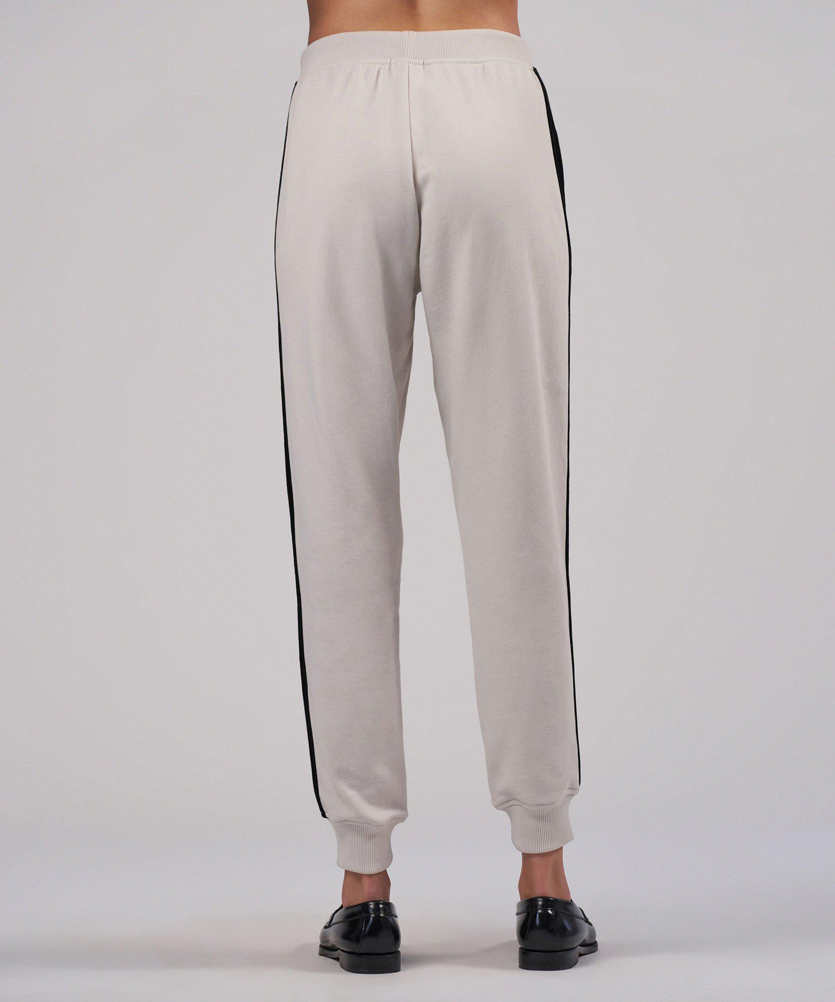 French Terry Racing Stripe Pull-On Pants - Tan Combo 2