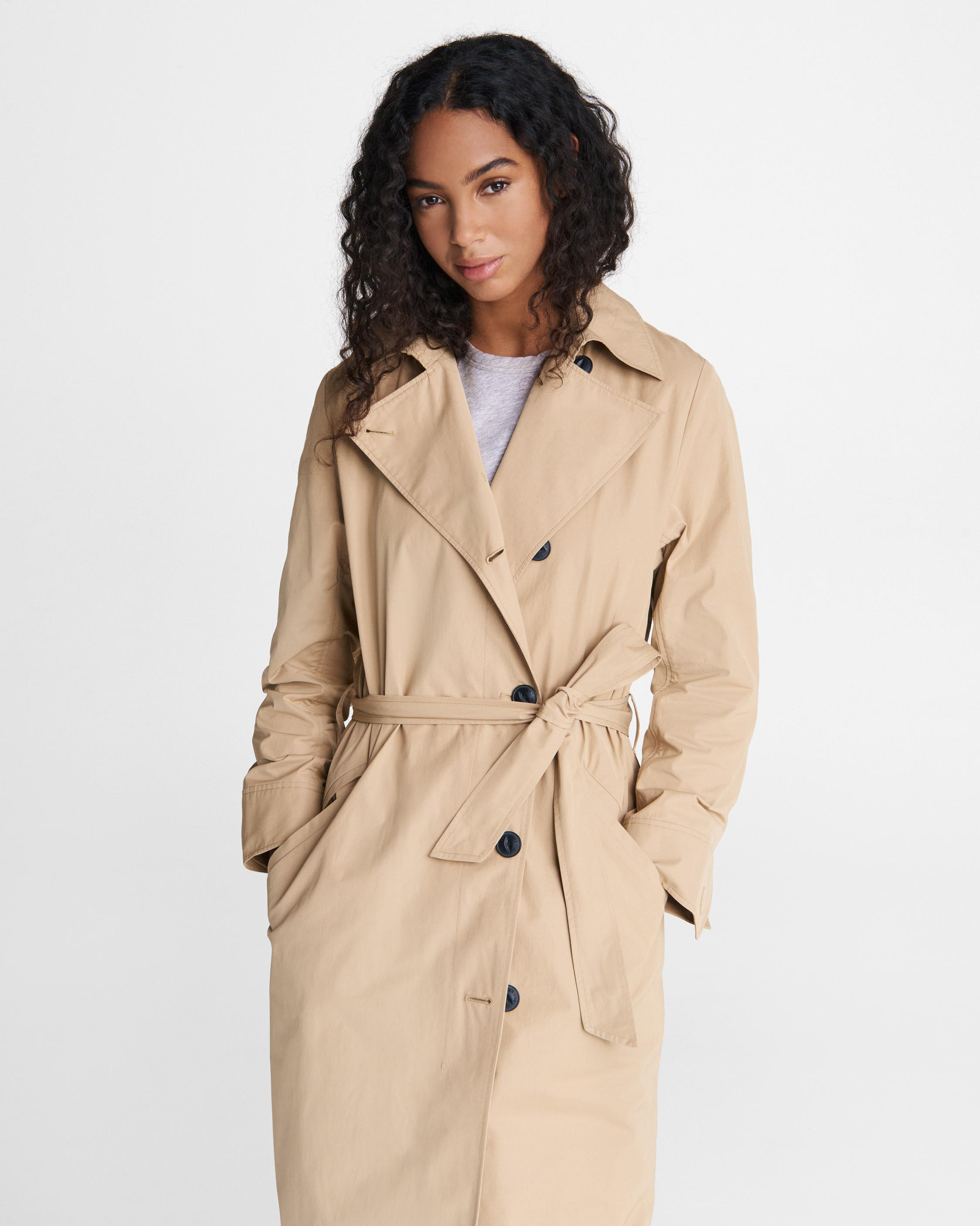 Classic cotton blend trench 1