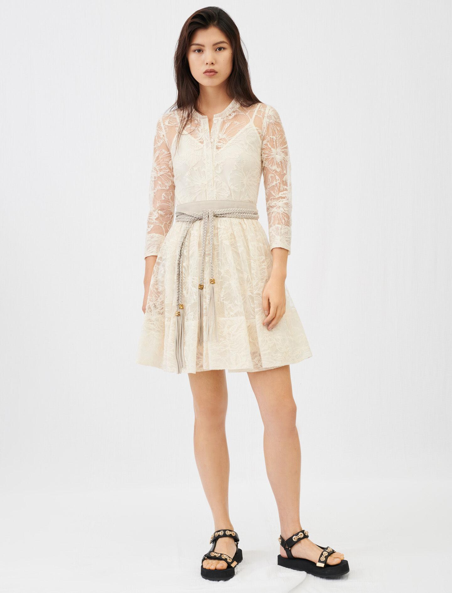 BELTED LACE DRESS 1