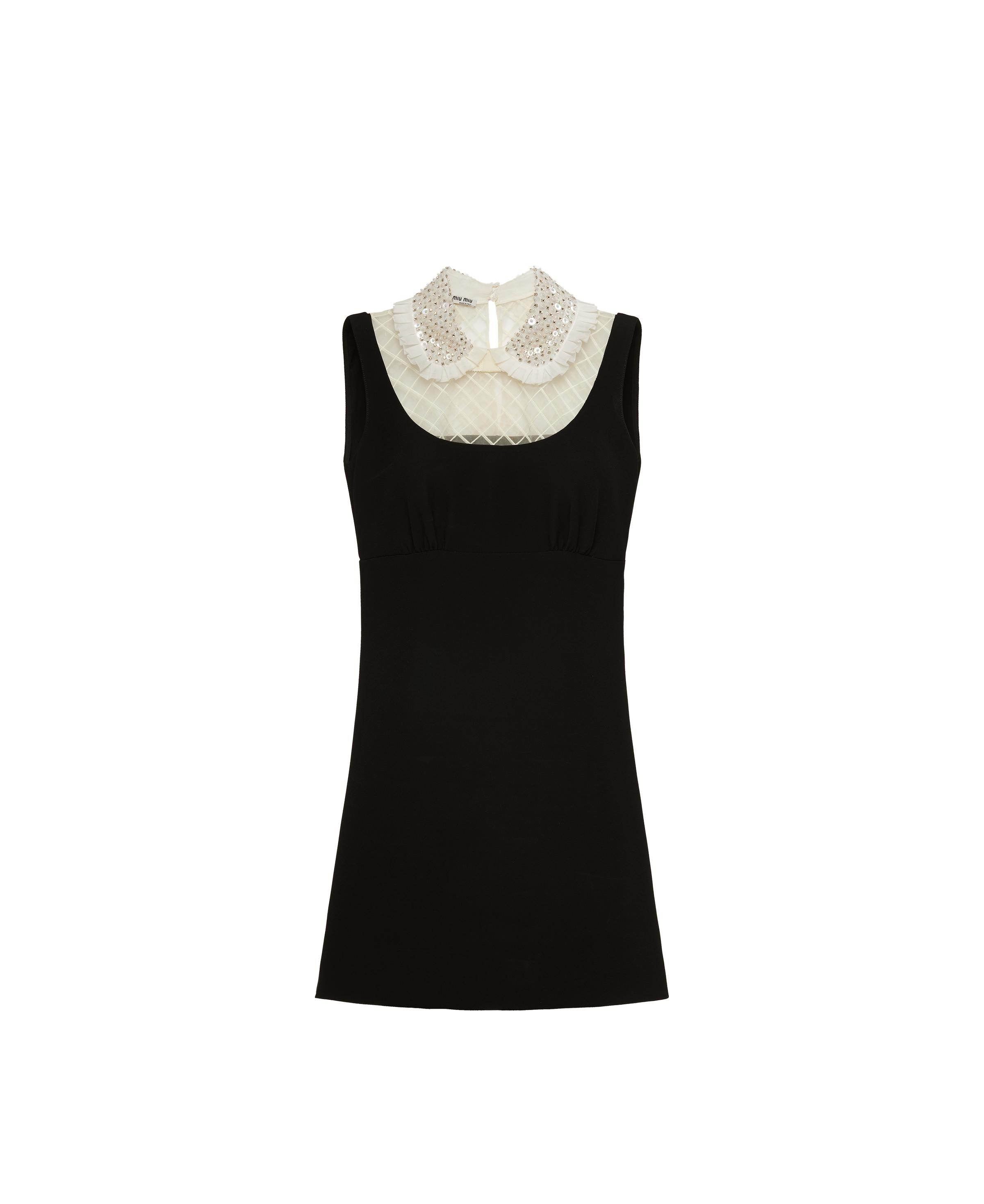 Embroidered Cady Dress Women Black