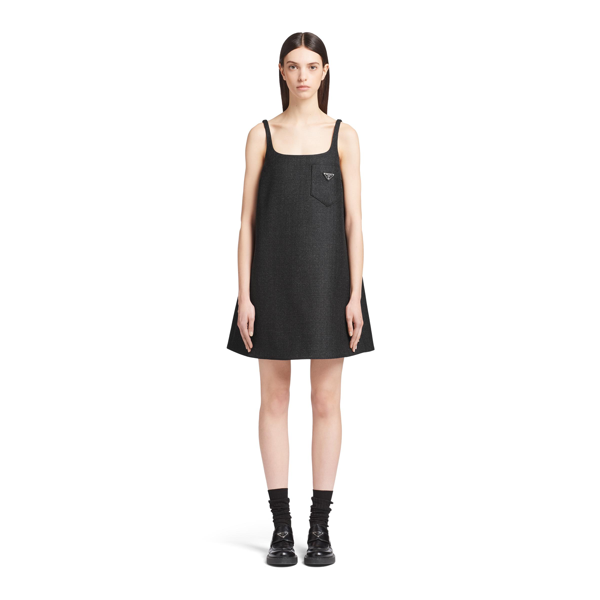 Prince Of Wales Checked Dress Women Black 1