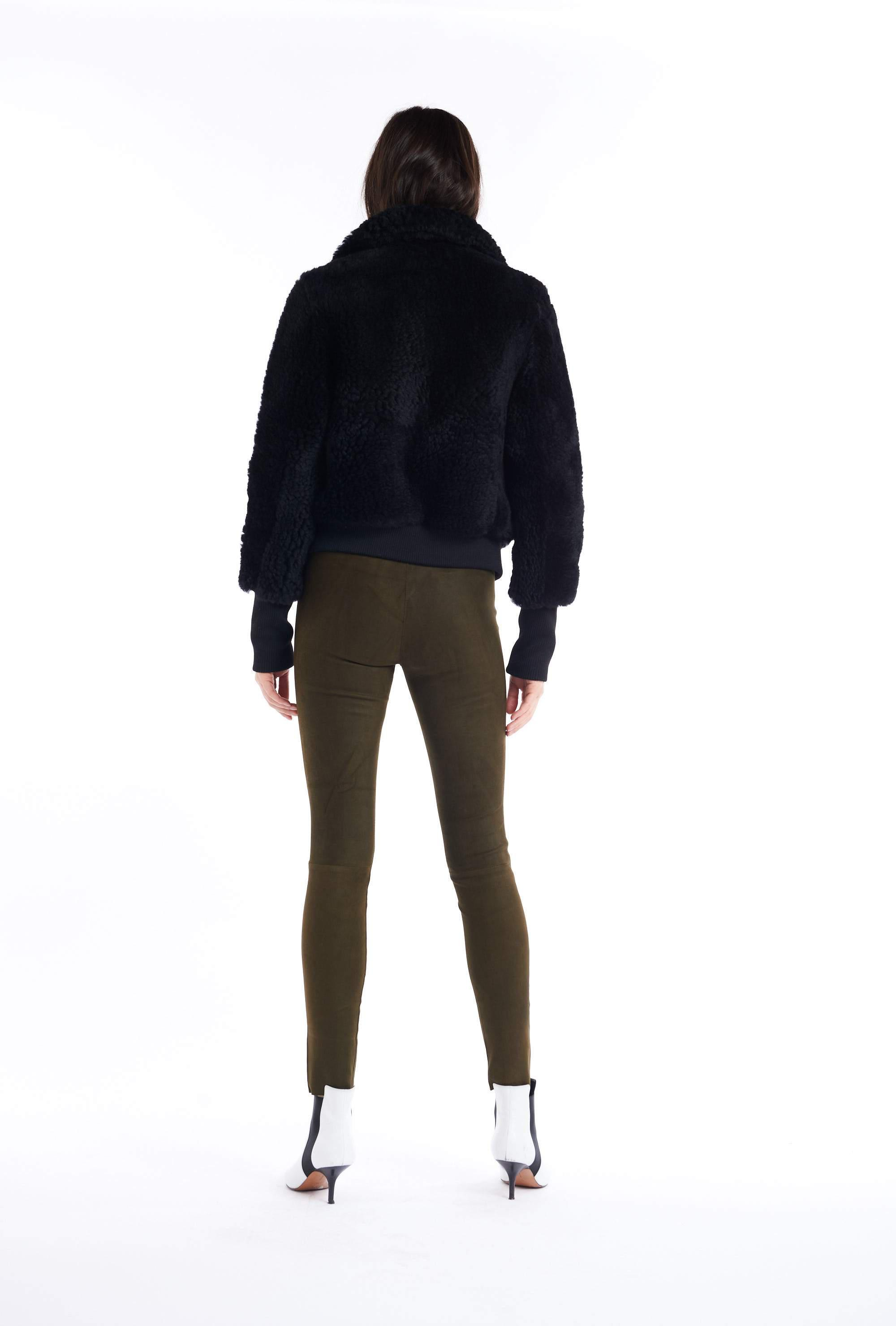 Coated Army Suede Ankle Legging