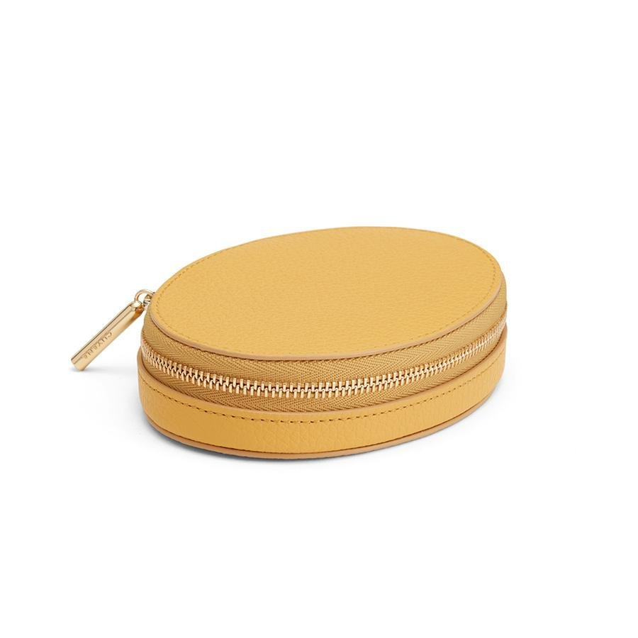 Women's Travel Jewelry Case in Daffodil   Pebbled Leather by Cuyana