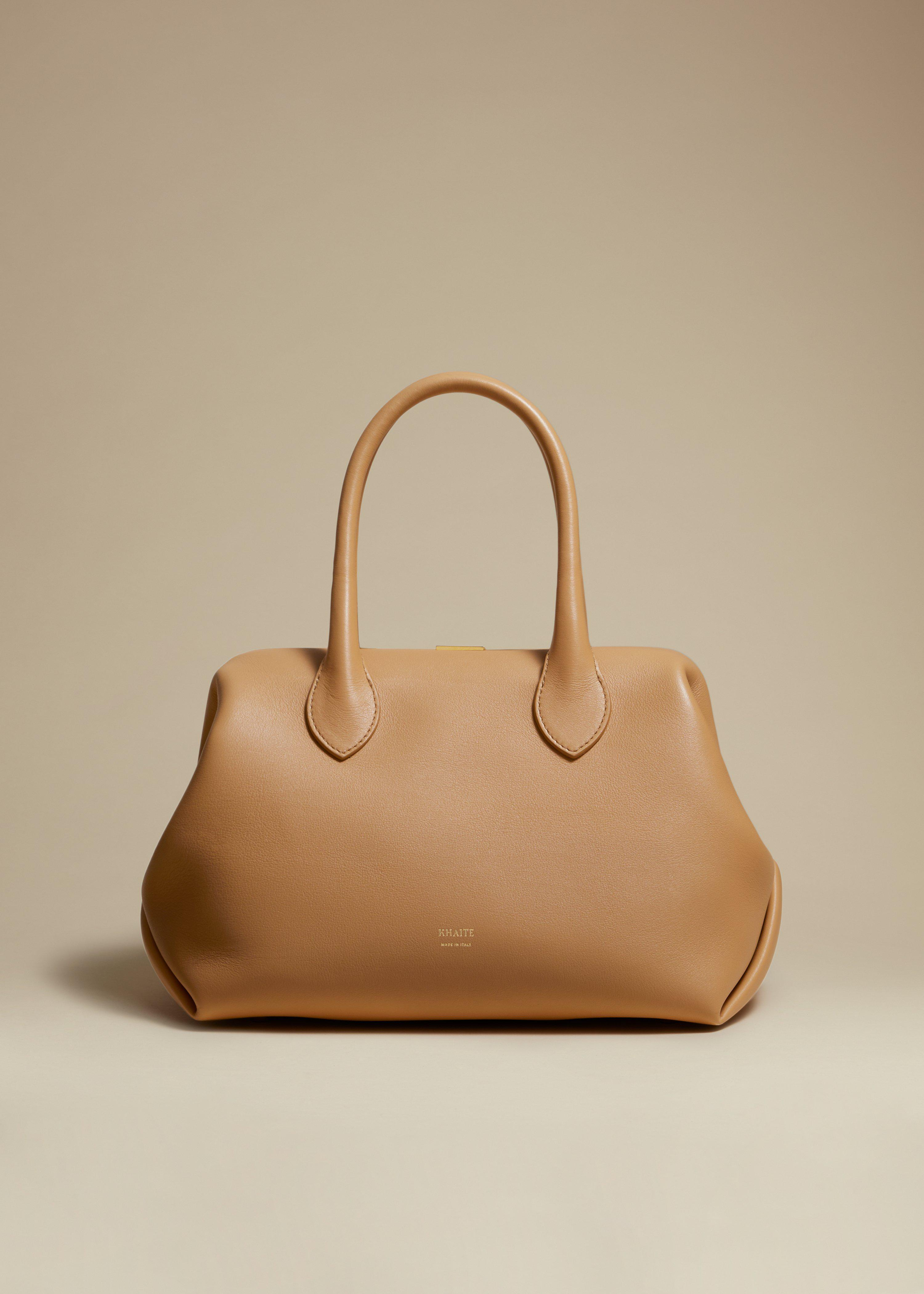 The Small Doctor Bag in Tan Leather