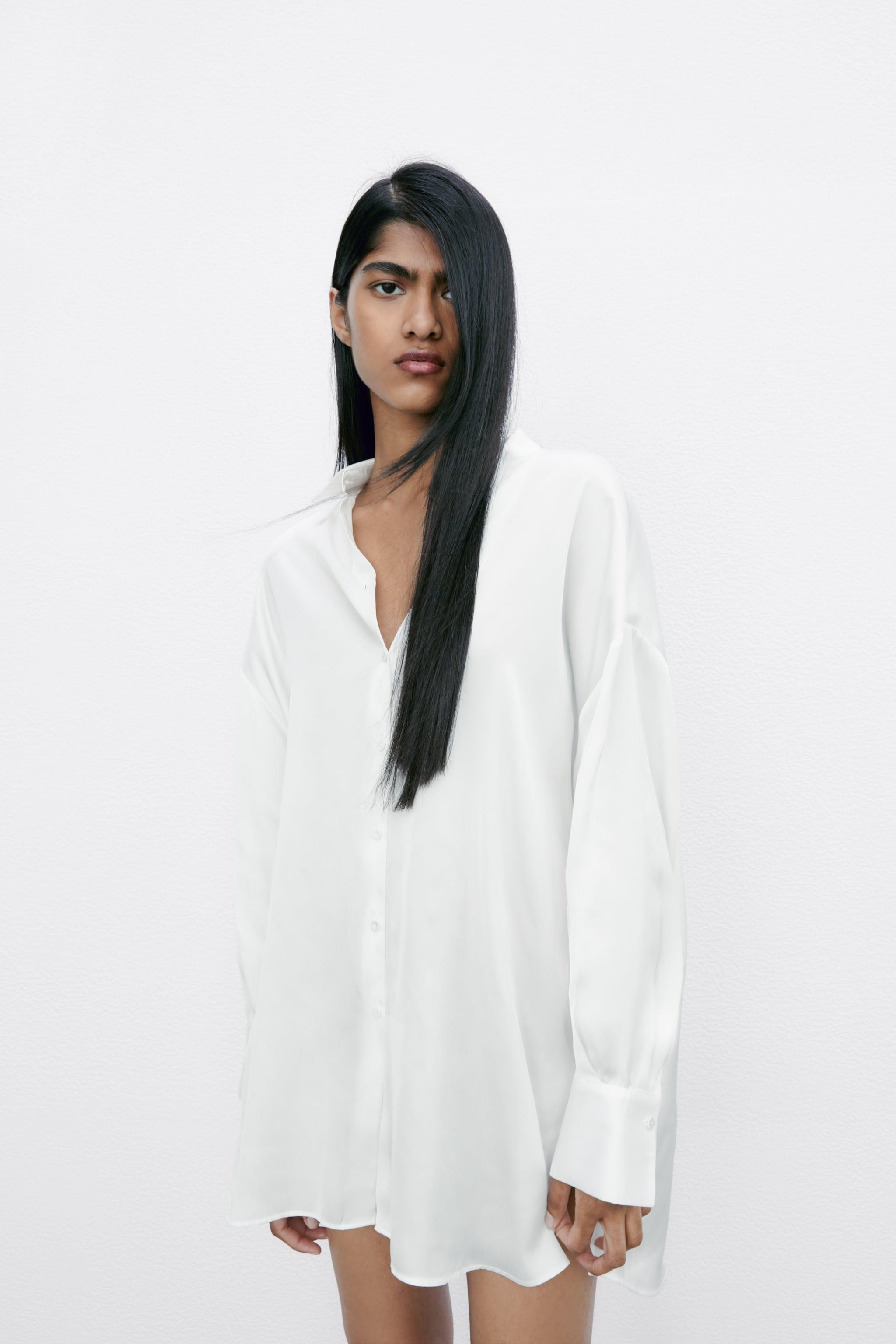FLOWY LINED BUTTON SHIRT 0