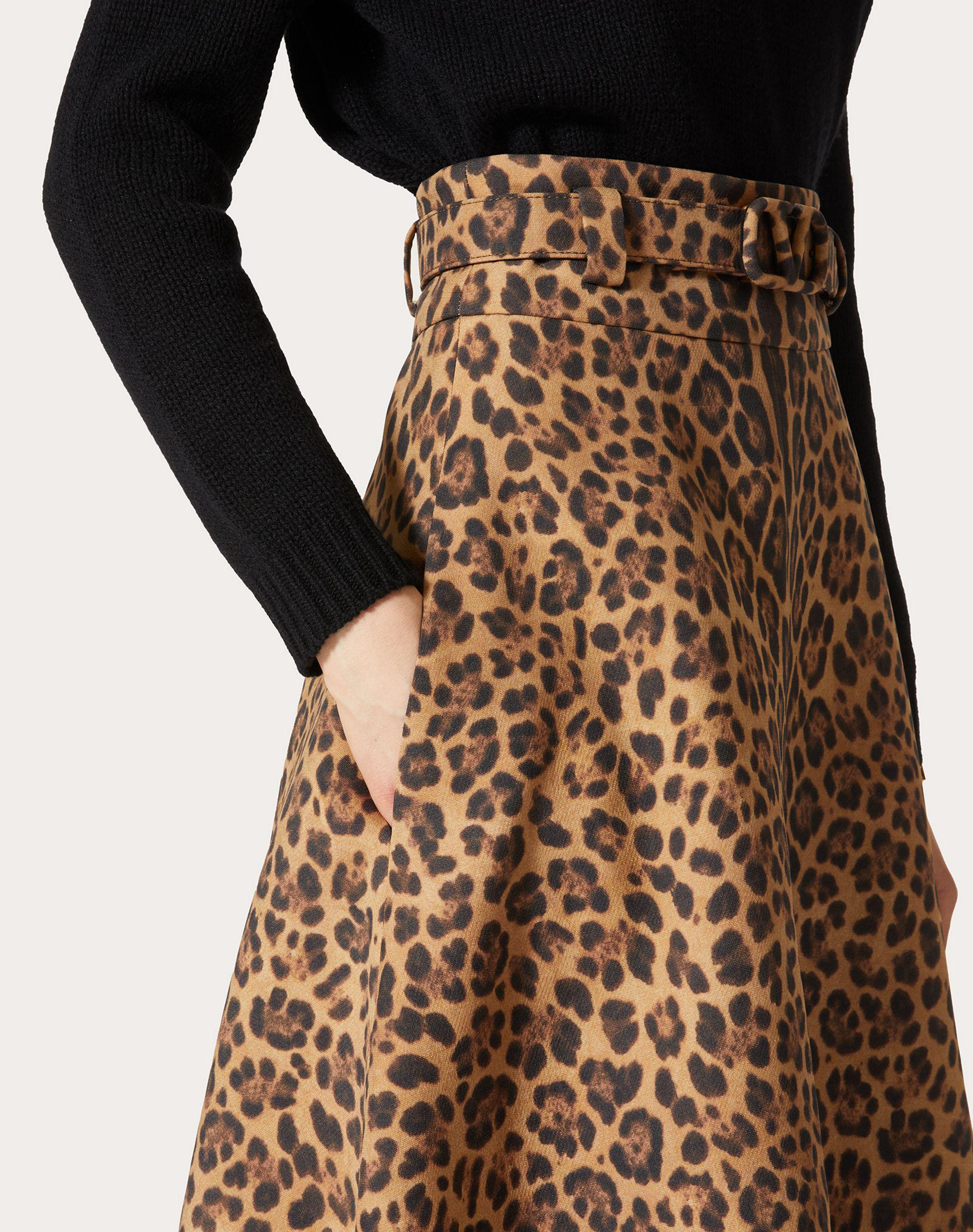 PRINTED CREPE COUTURE SKIRT 4