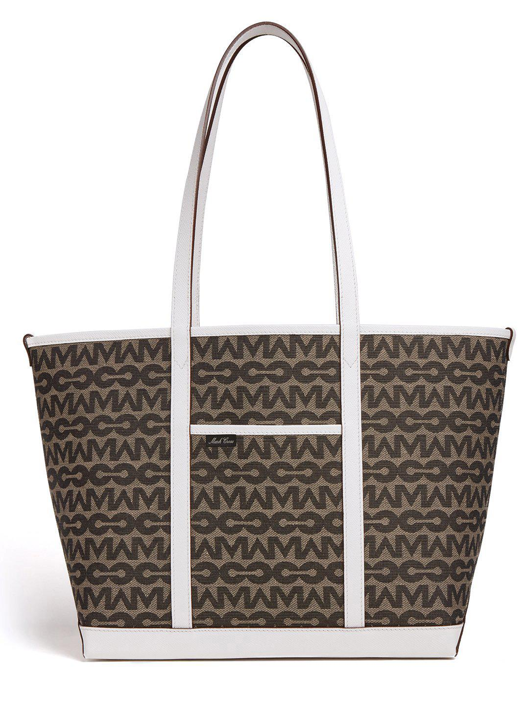 The Essentials Upcycled MC Jacquard & Leather Tote Bag 1