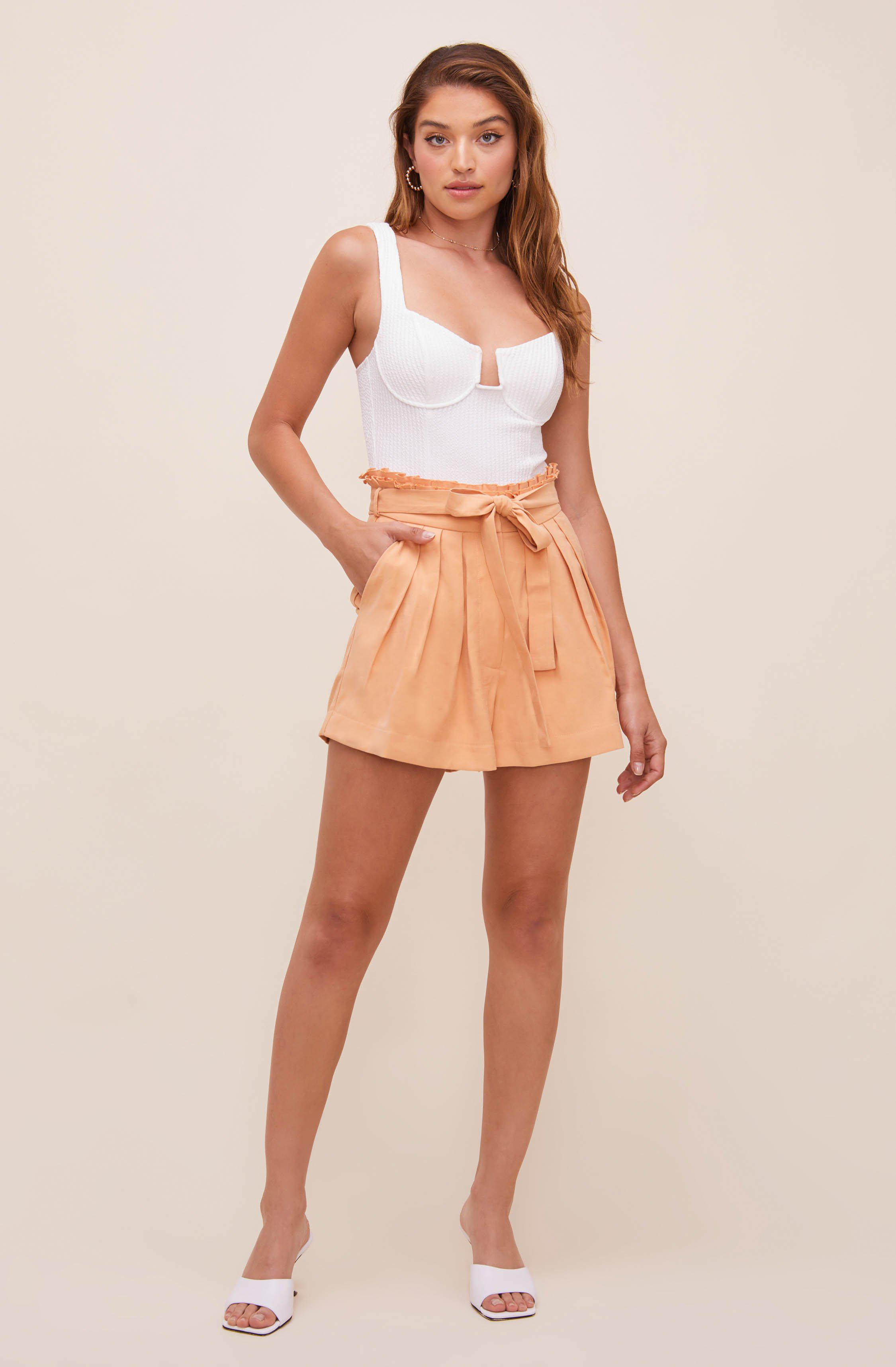 Pacific Pleated Tie Waist Shorts