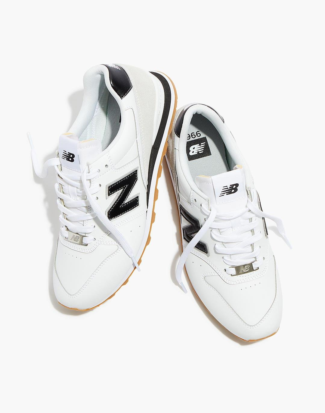 New Balance® 996 Sneakers in White and Black 0