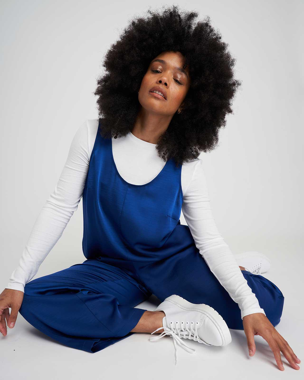 Judy Satin Relaxed Jumpsuit 1