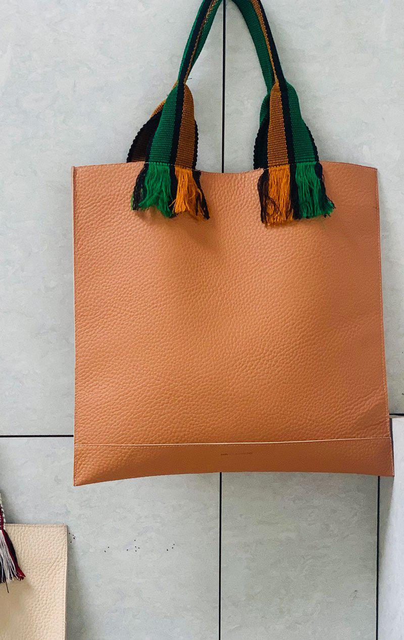 Caramel Large leather tote