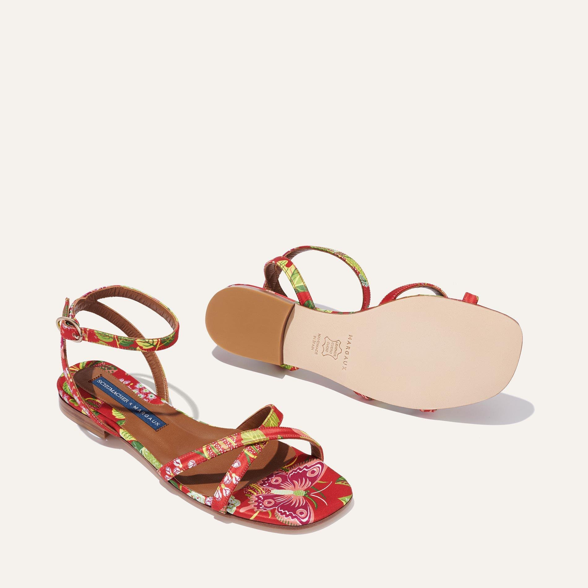 Schumacher x Margaux - The Flat Sandal in Exotic Butterfly 3
