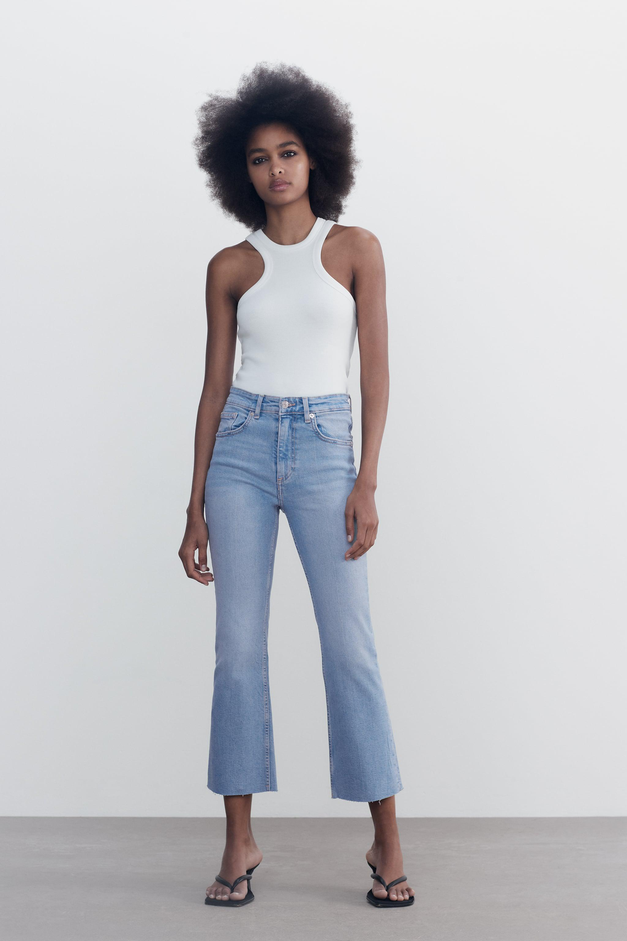 CROPPED FLARE JEANS 0