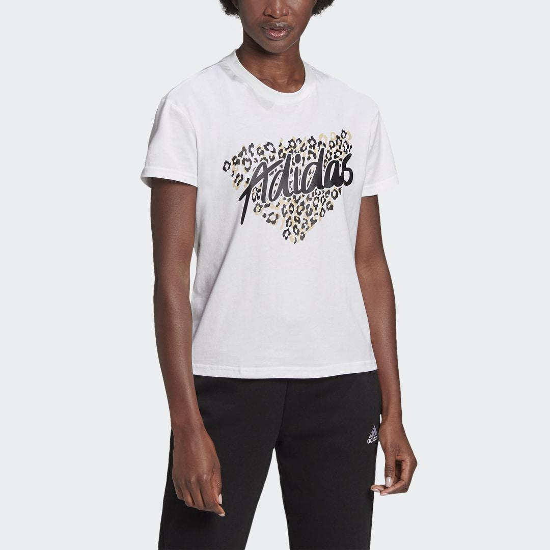 Leopard Graphic Tee White 3