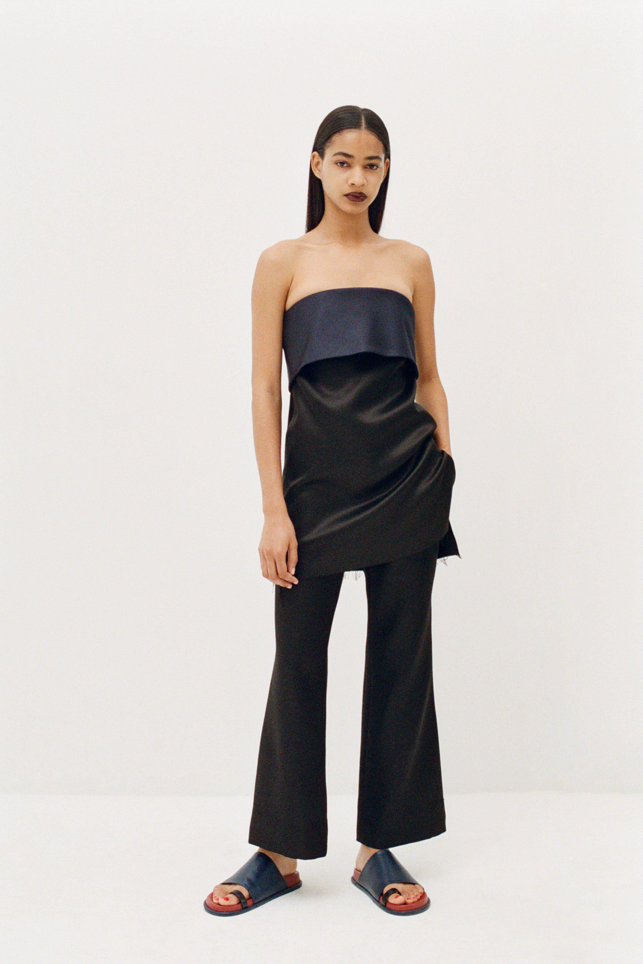 Bustier with Fold Over Neckline
