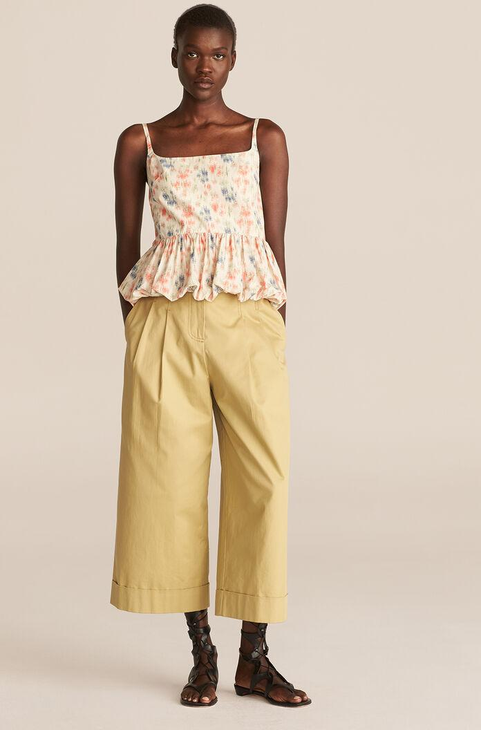 COMPACT TWILL FLARE PANT