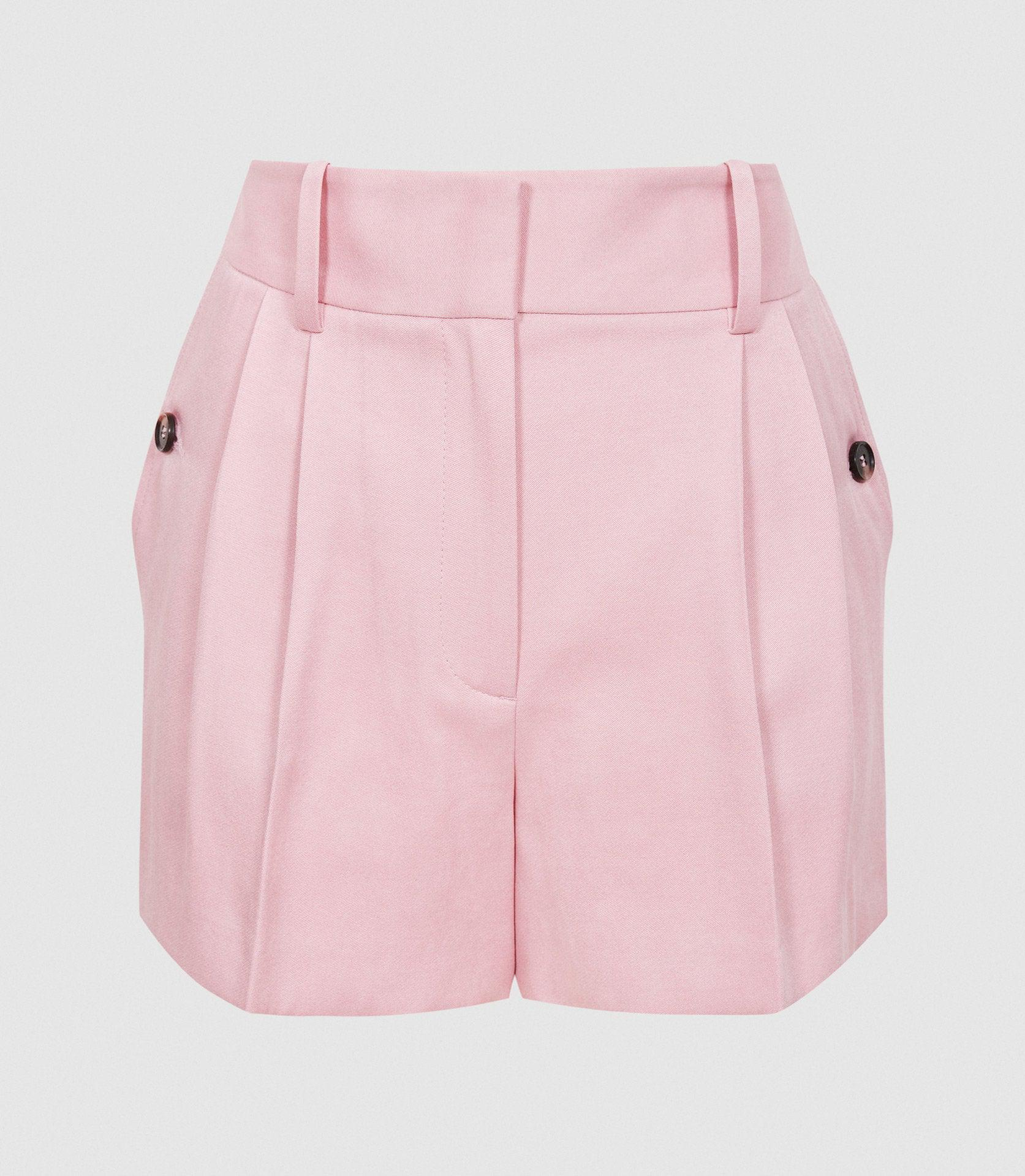 EMBER - TAILORED PLEAT FRONT SHORTS 7
