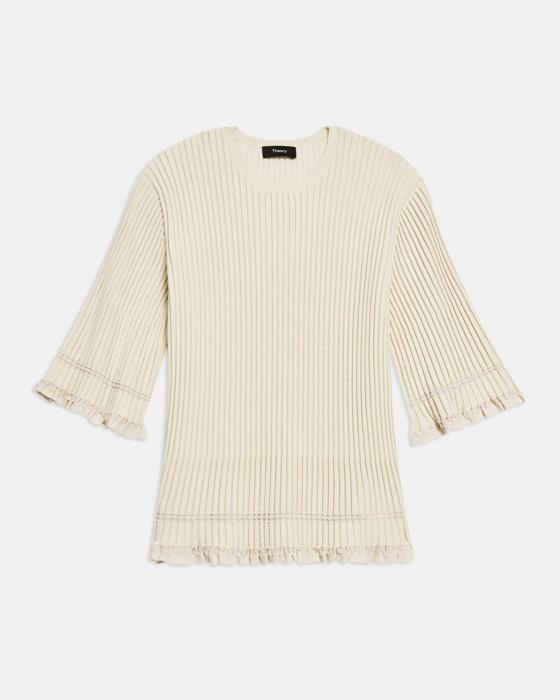Ribbed T-Shirt in Eco Knit 5