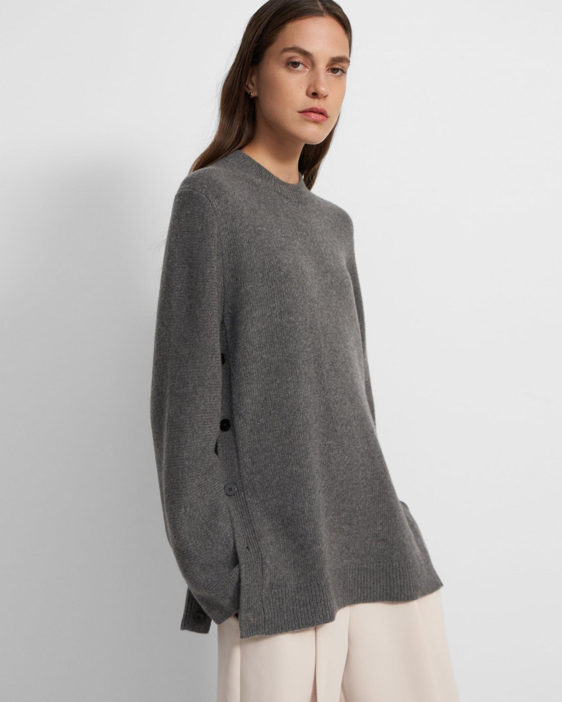 Button Tunic in Wool-Cashmere