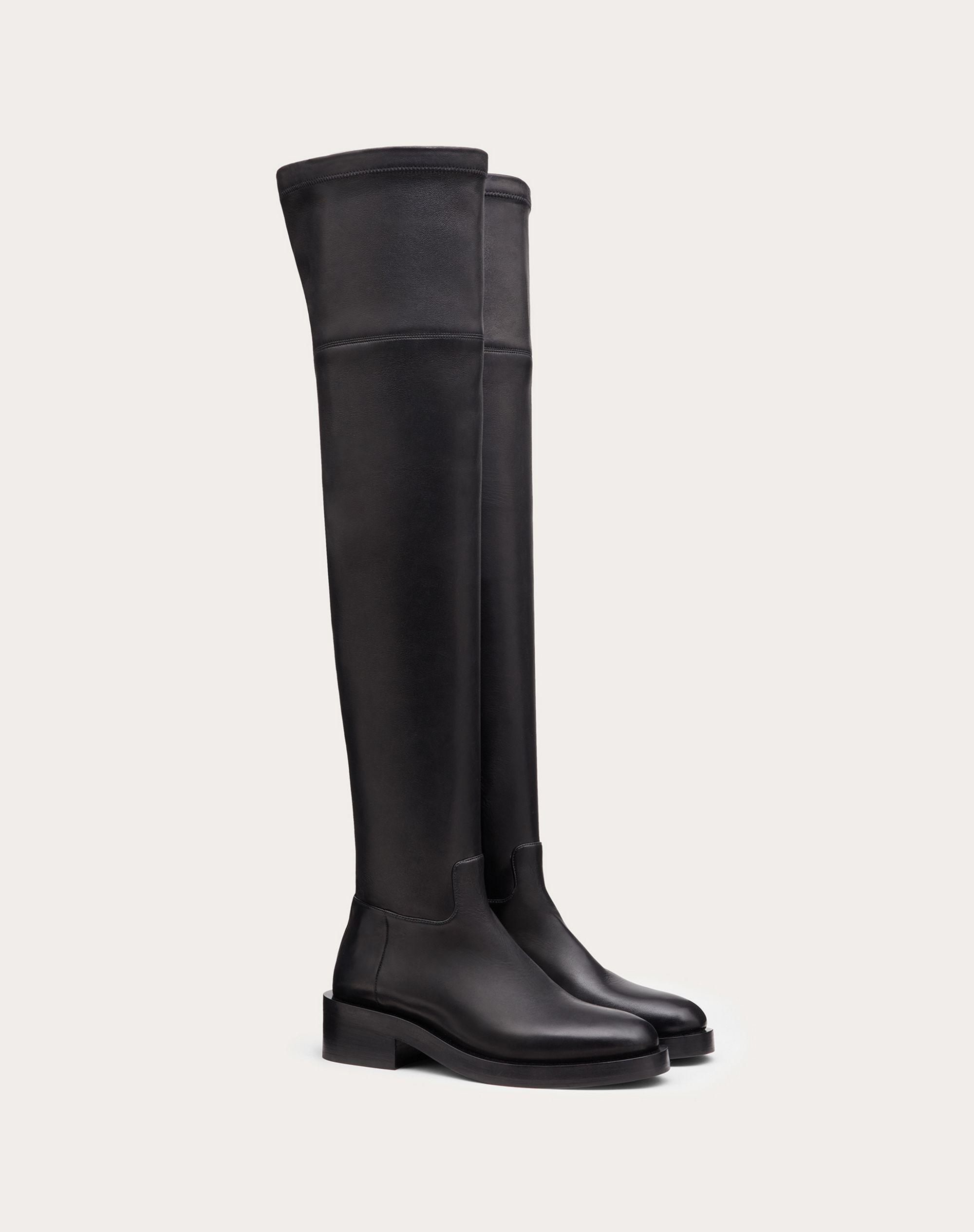 ROMAN STUD STRETCH NAPPA OVER-THE-KNEE BOOT 30MM 1