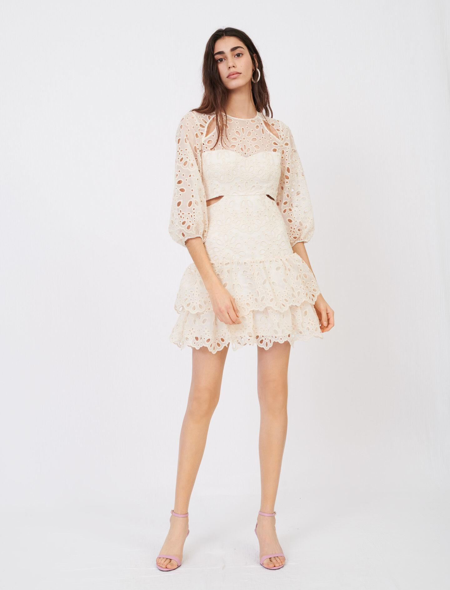 EYELET MINI DRESS WITH CUT-OUTS 1