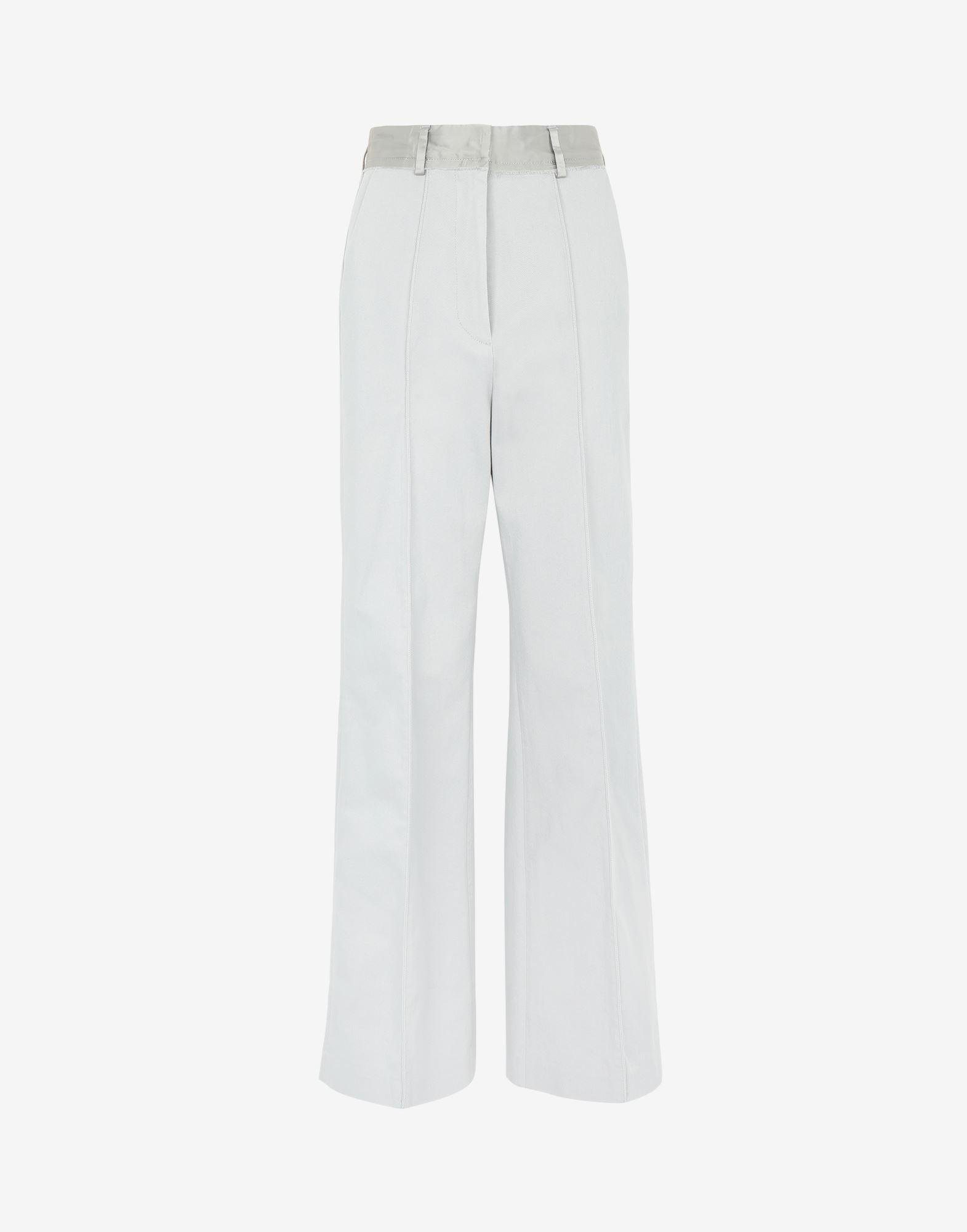 Spliced cotton trousers 4