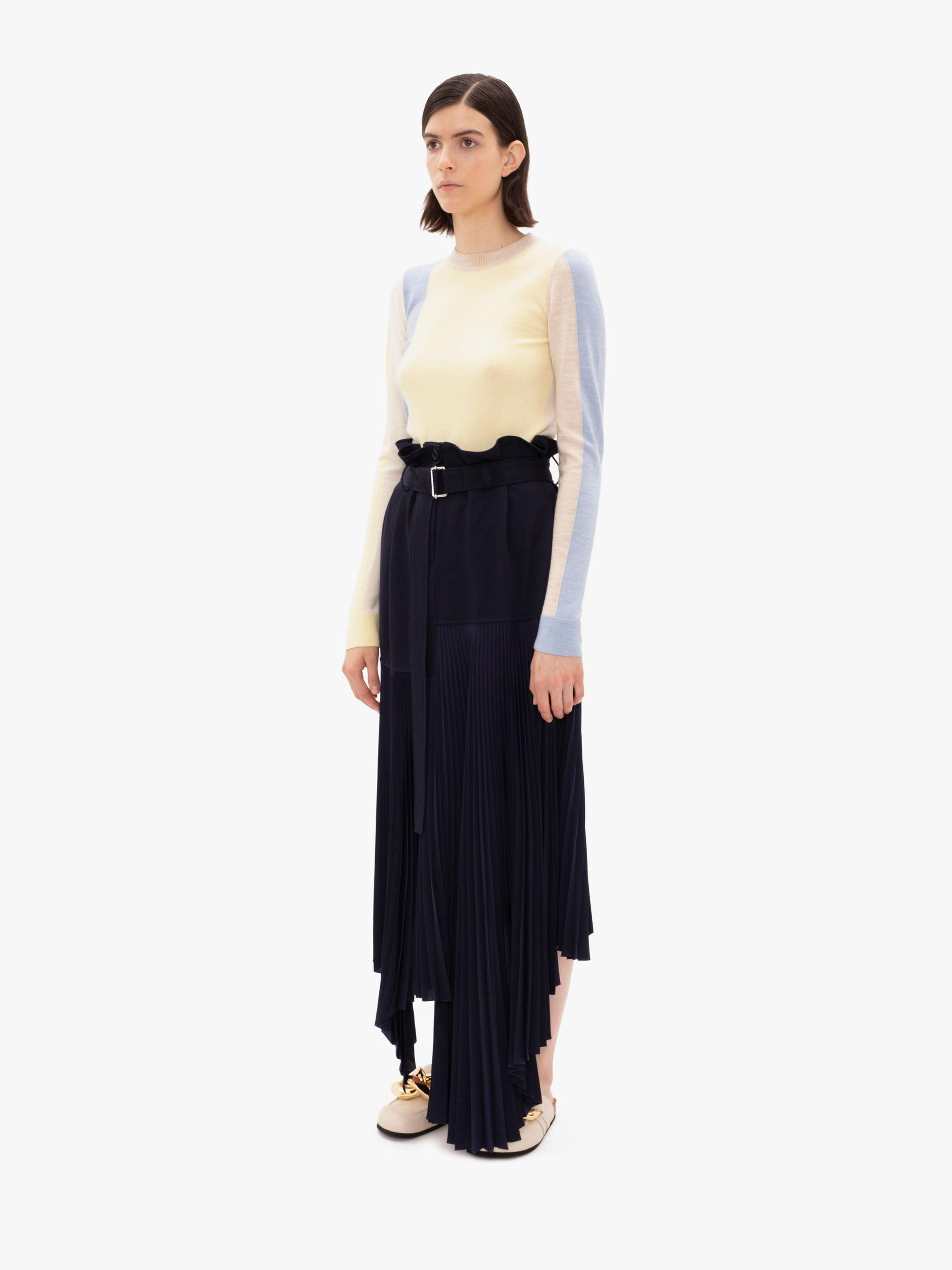 BELTED PLEATED SKIRT 1