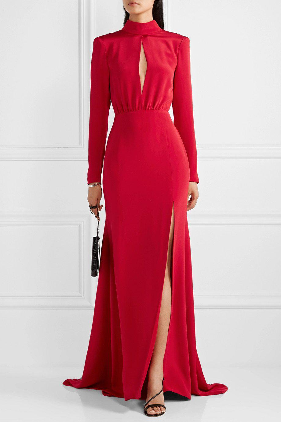 CREPE KEYHOLE GOWN 1