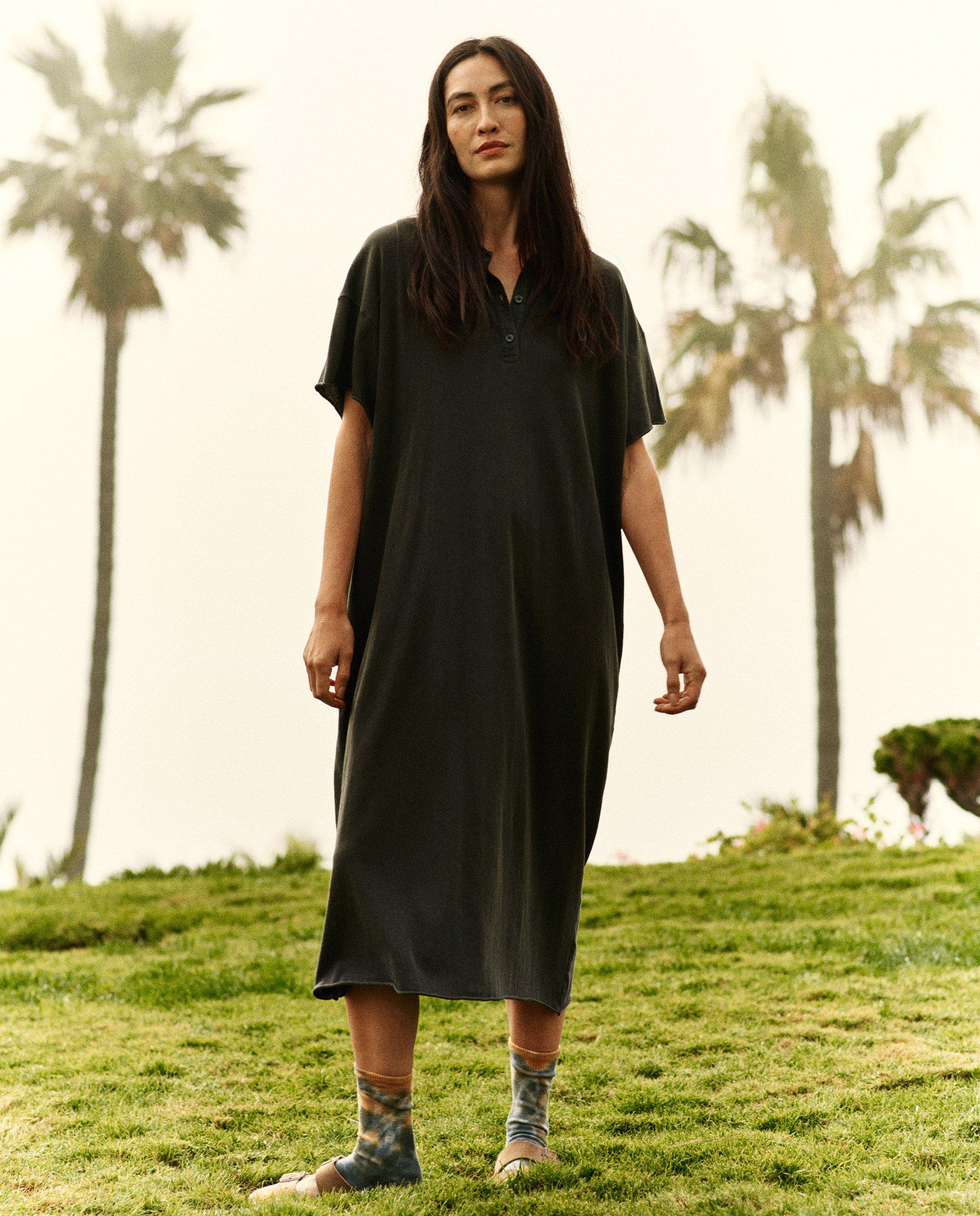The Polo Dress. -- Washed Black