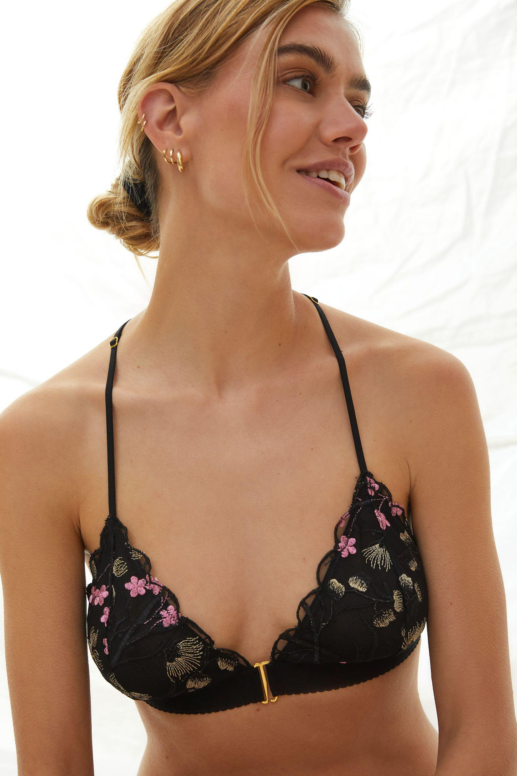 Posies Embroidered Bralette