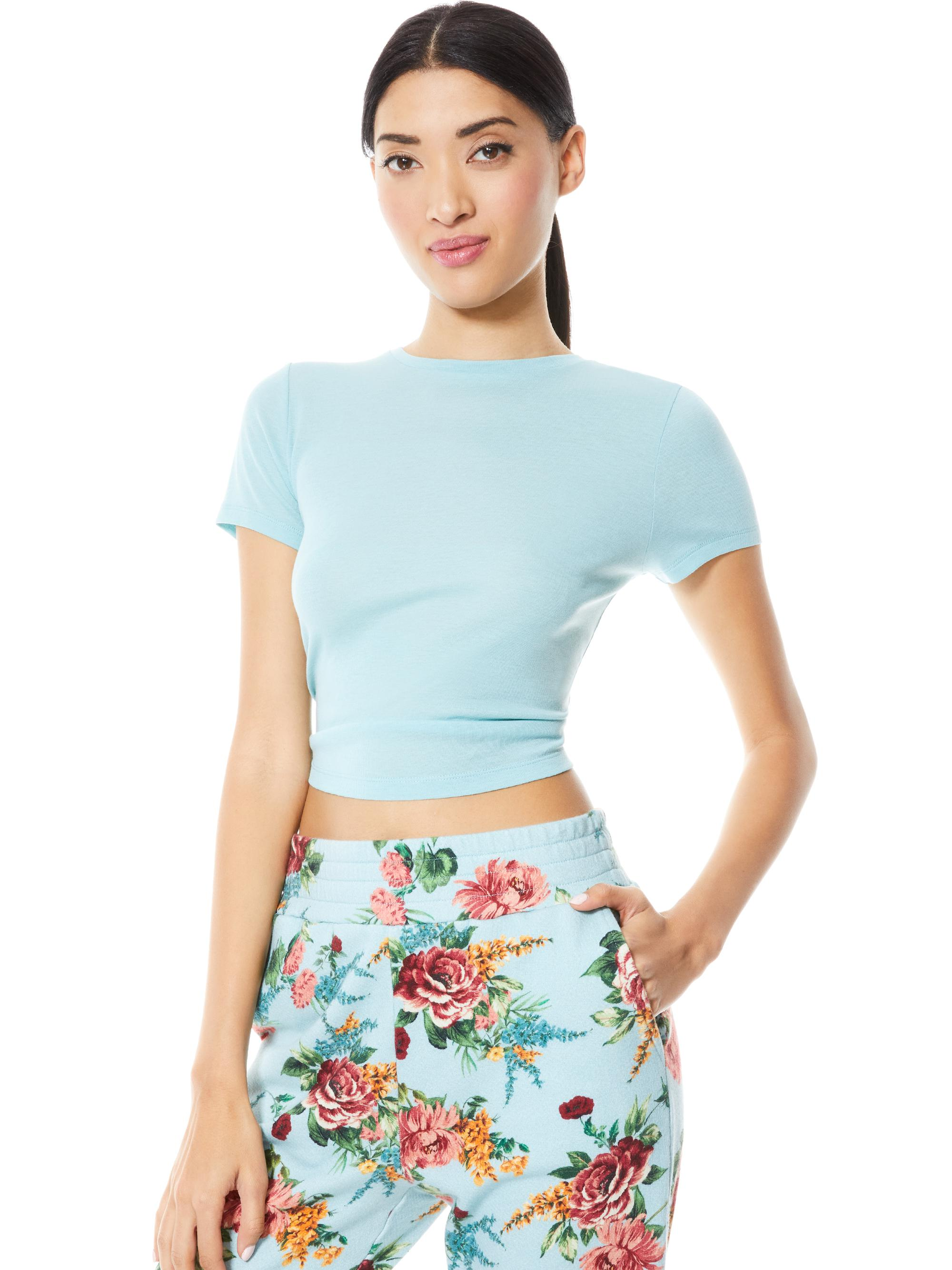 CINDY CLASSIC CROPPED TEE