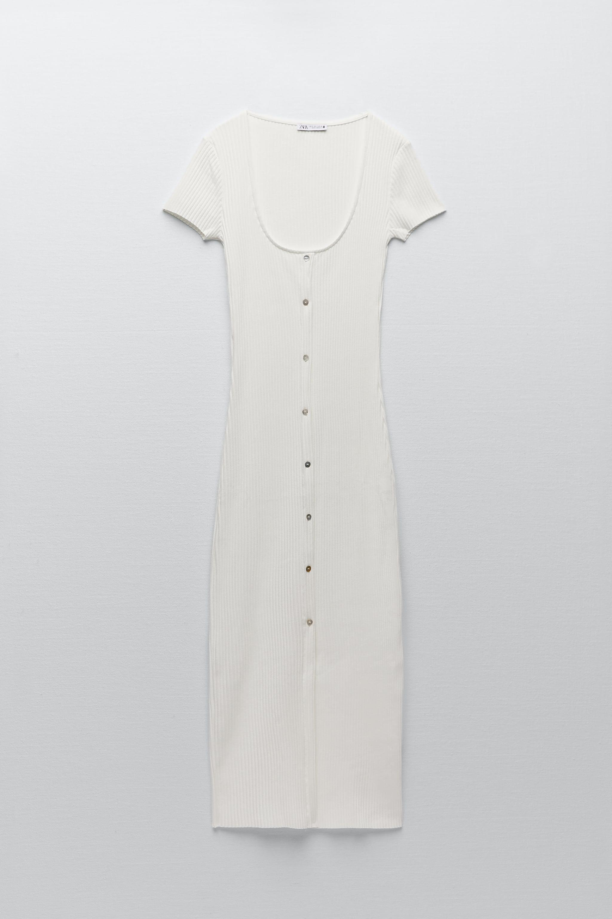 RIBBED DRESS WITH BUTTONS 5