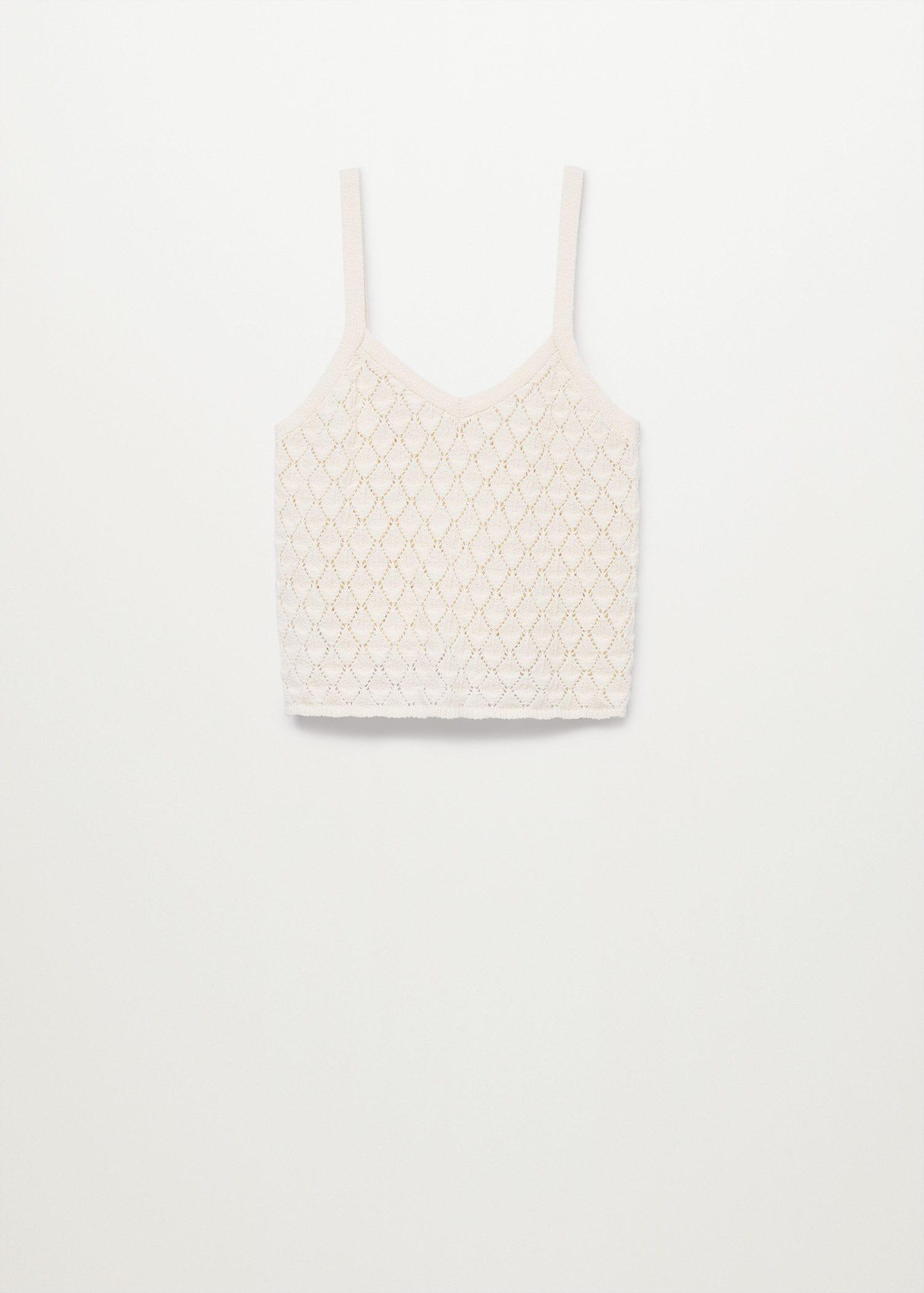 Knitted cropped top 8