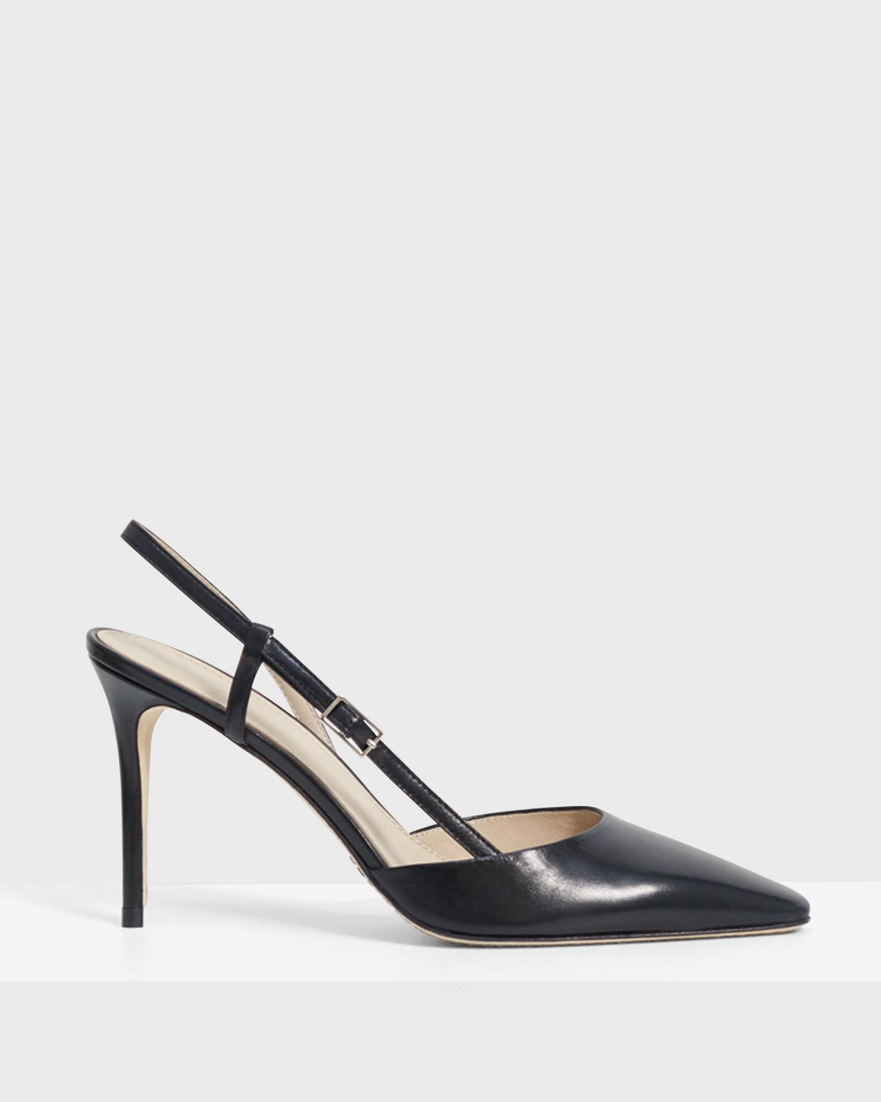 Buckled Mid-Heel Sandal in Leather 4
