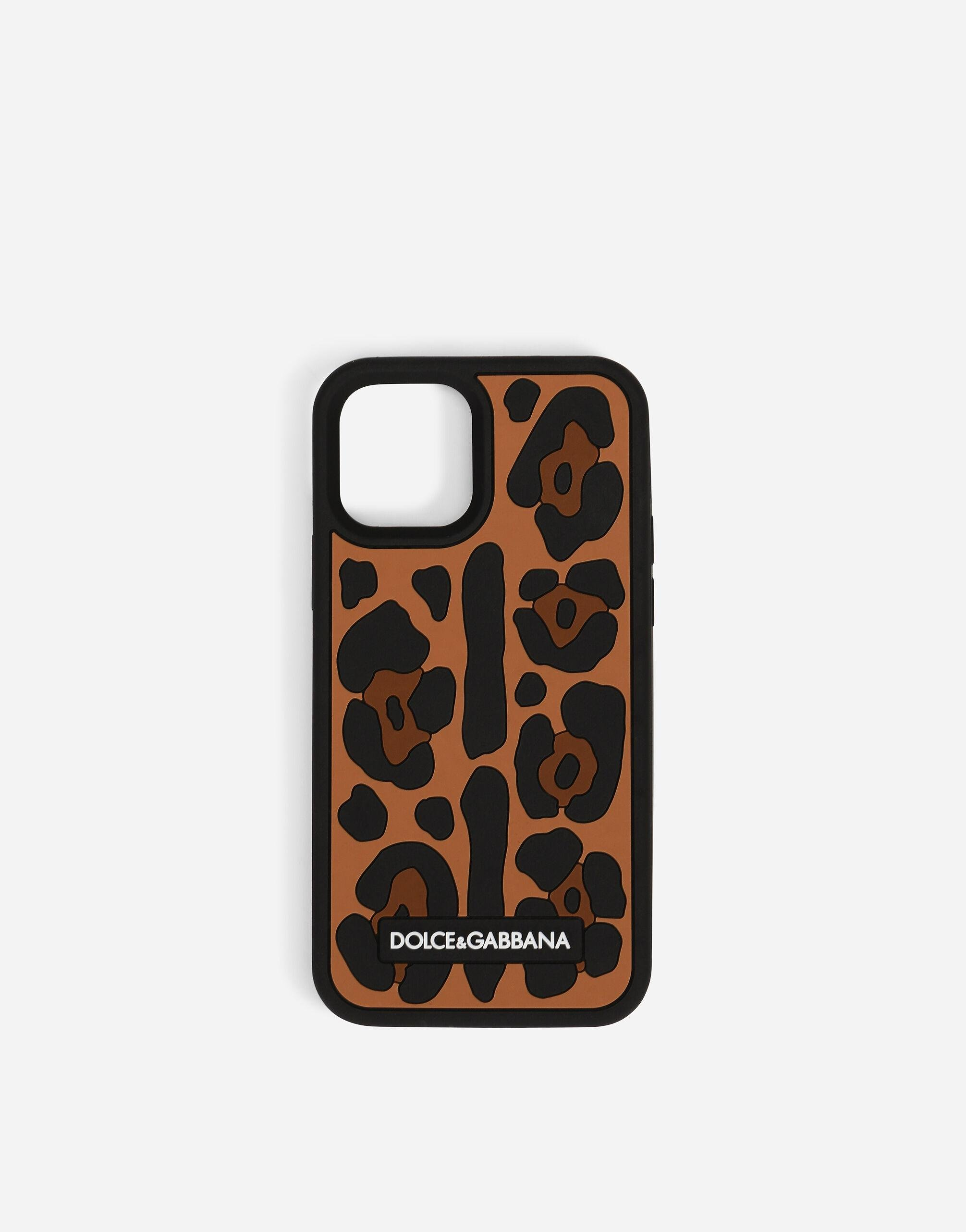 Leopard-print rubber iPhone 12 Pro cover