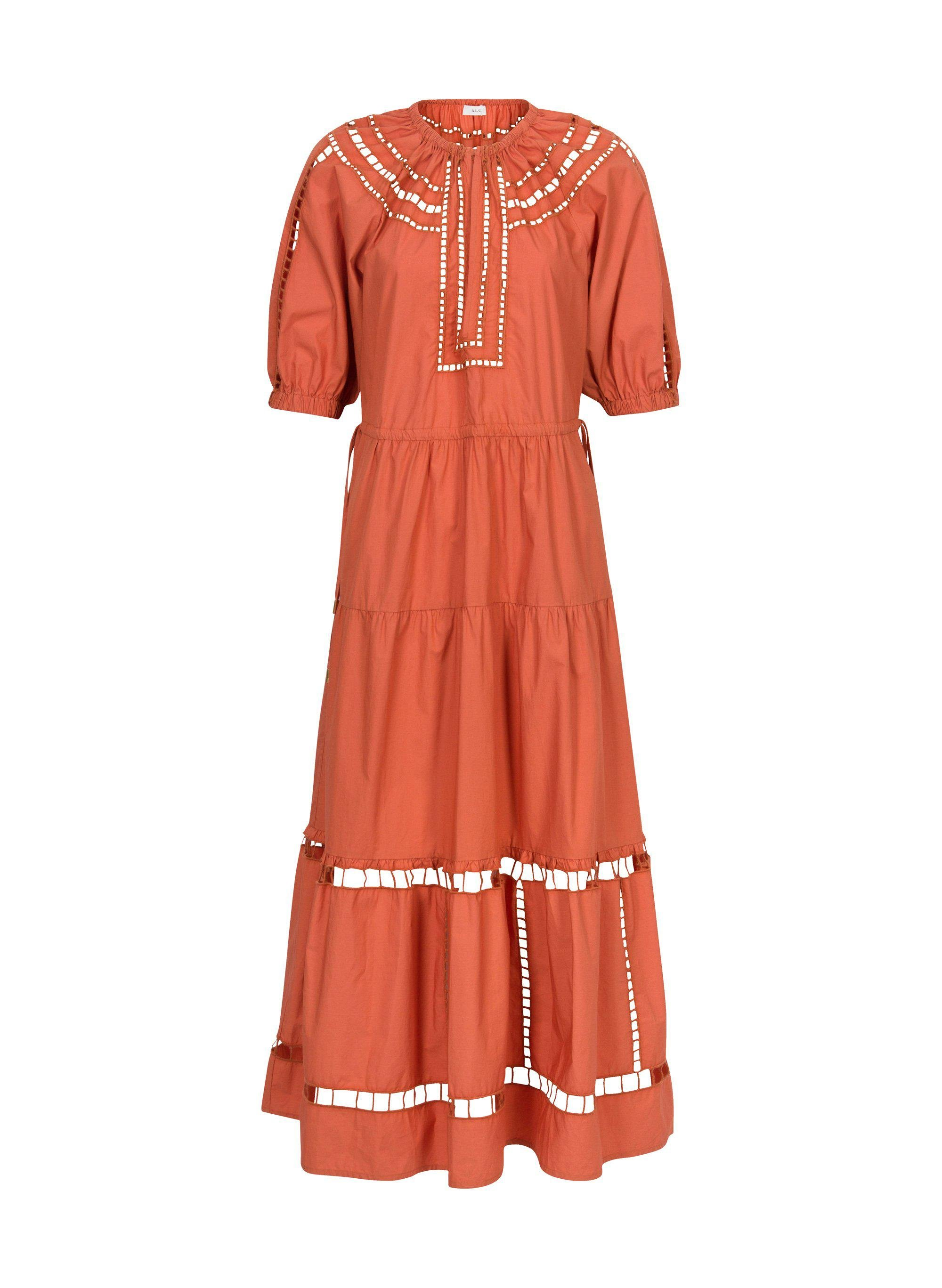 Maryn Embroidered Cotton Dress 4