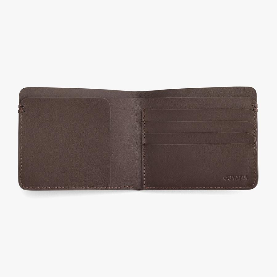 Women's Leather Folding Wallet in Dark Brown | Smooth Leather by Cuyana 1