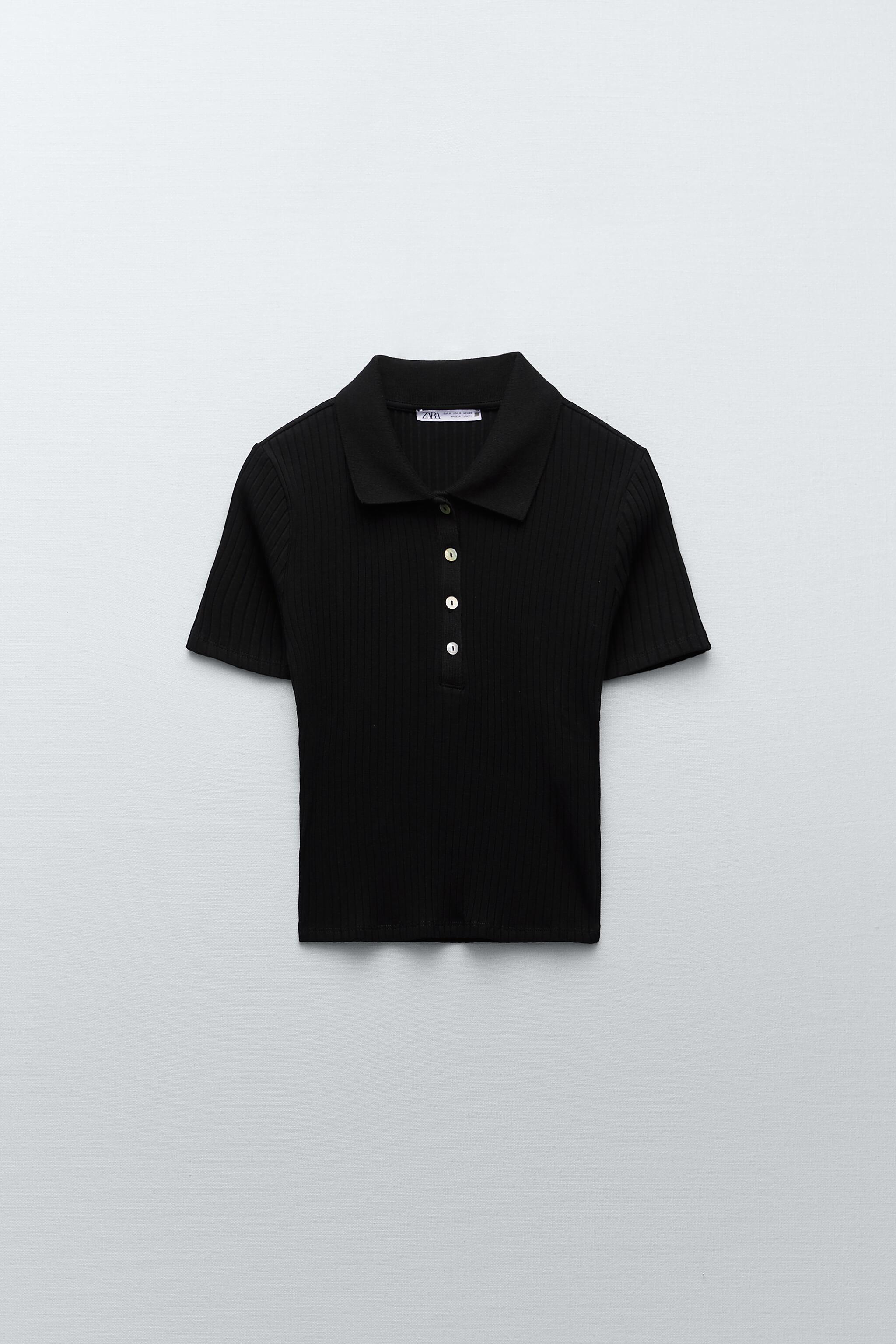 RIBBED BUTTONED POLO 4