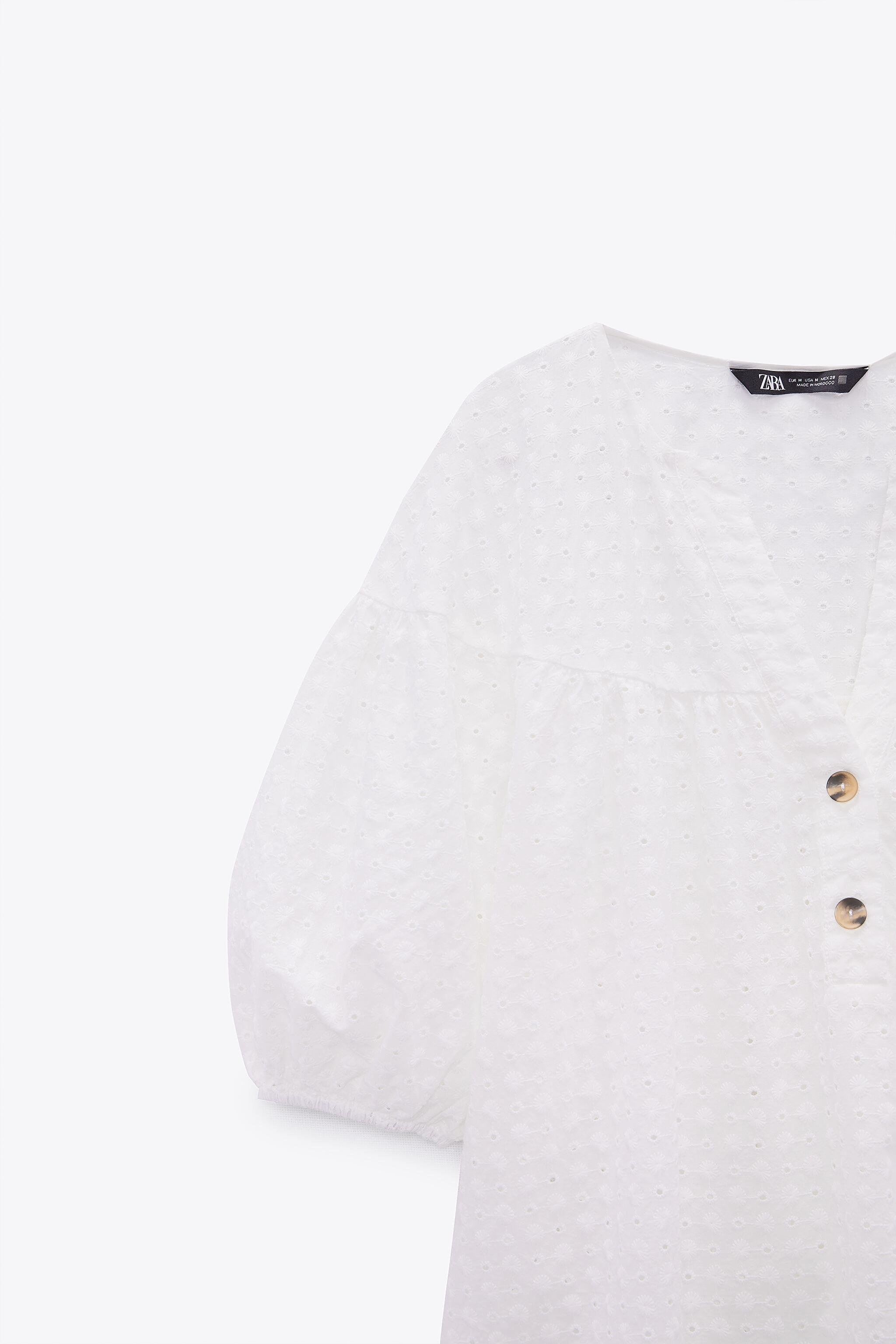 EMBROIDERED EYELET BLOUSE 5