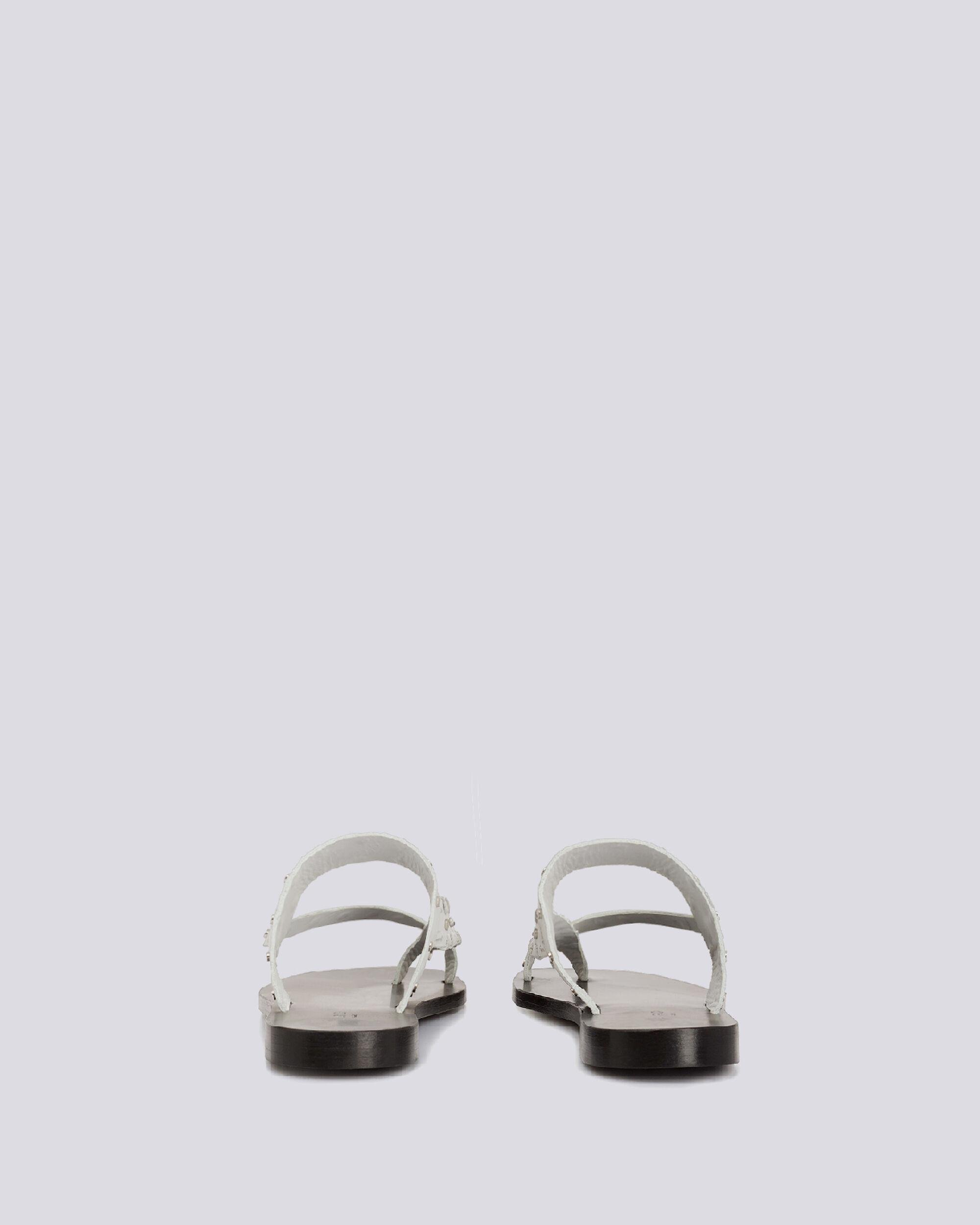 WIKI TOE RING FLAT LEATHER SANDALS 3