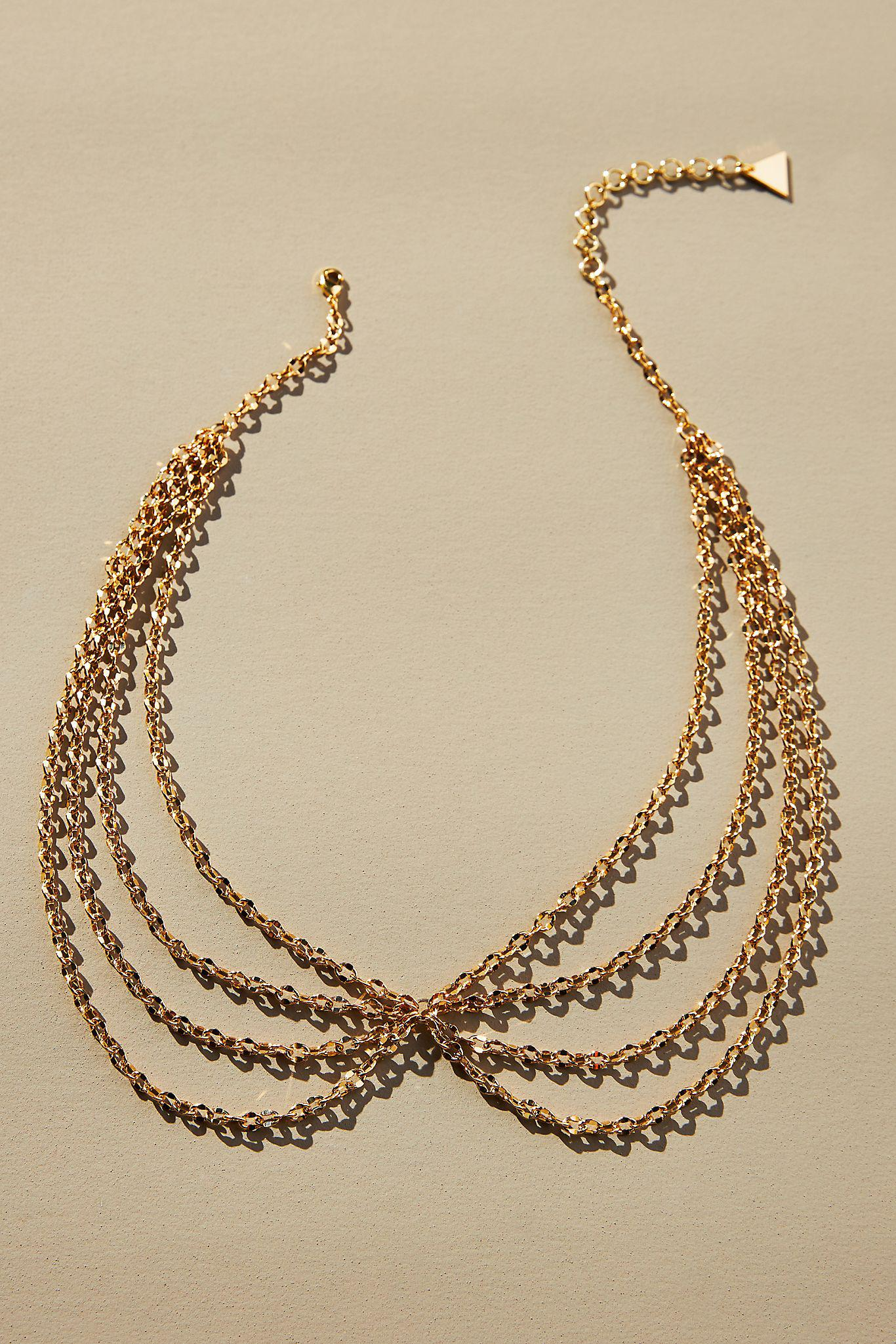 Layered Strand Collar Necklace