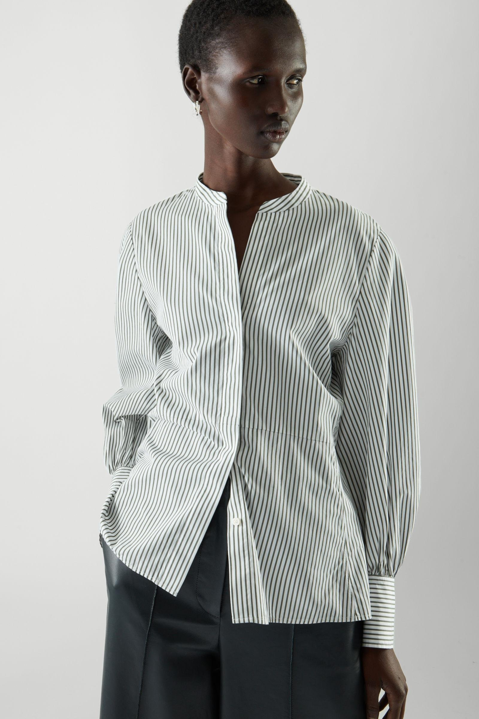 BELL SLEEVE FITTED SHIRT