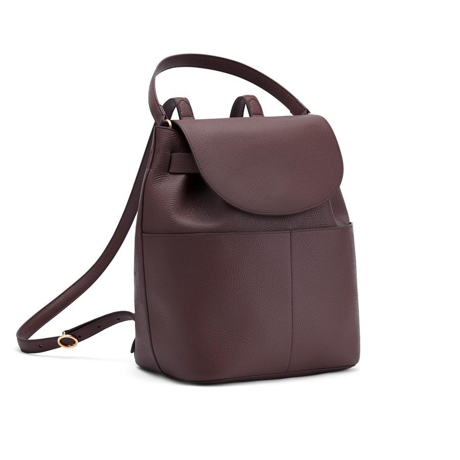 Women's Leather Backpack in Burgundy | Pebbled Leather by Cuyana
