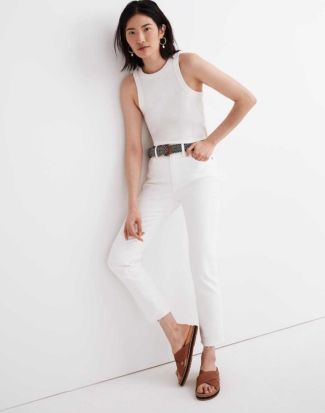 The Petite Perfect Vintage Jean in Tile White